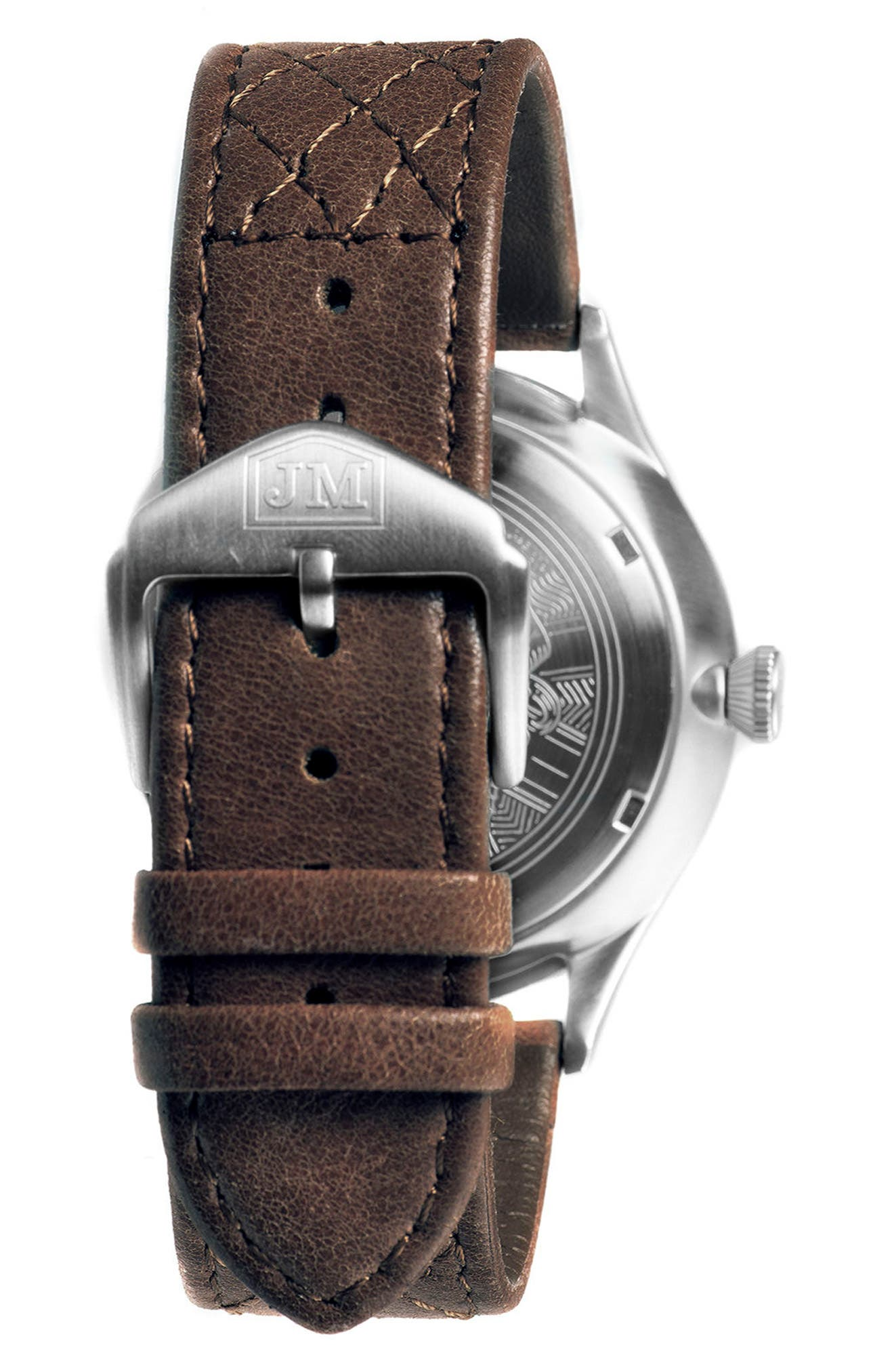 London Slim Leather Strap Watch, 43mm,                             Alternate thumbnail 2, color,                             200