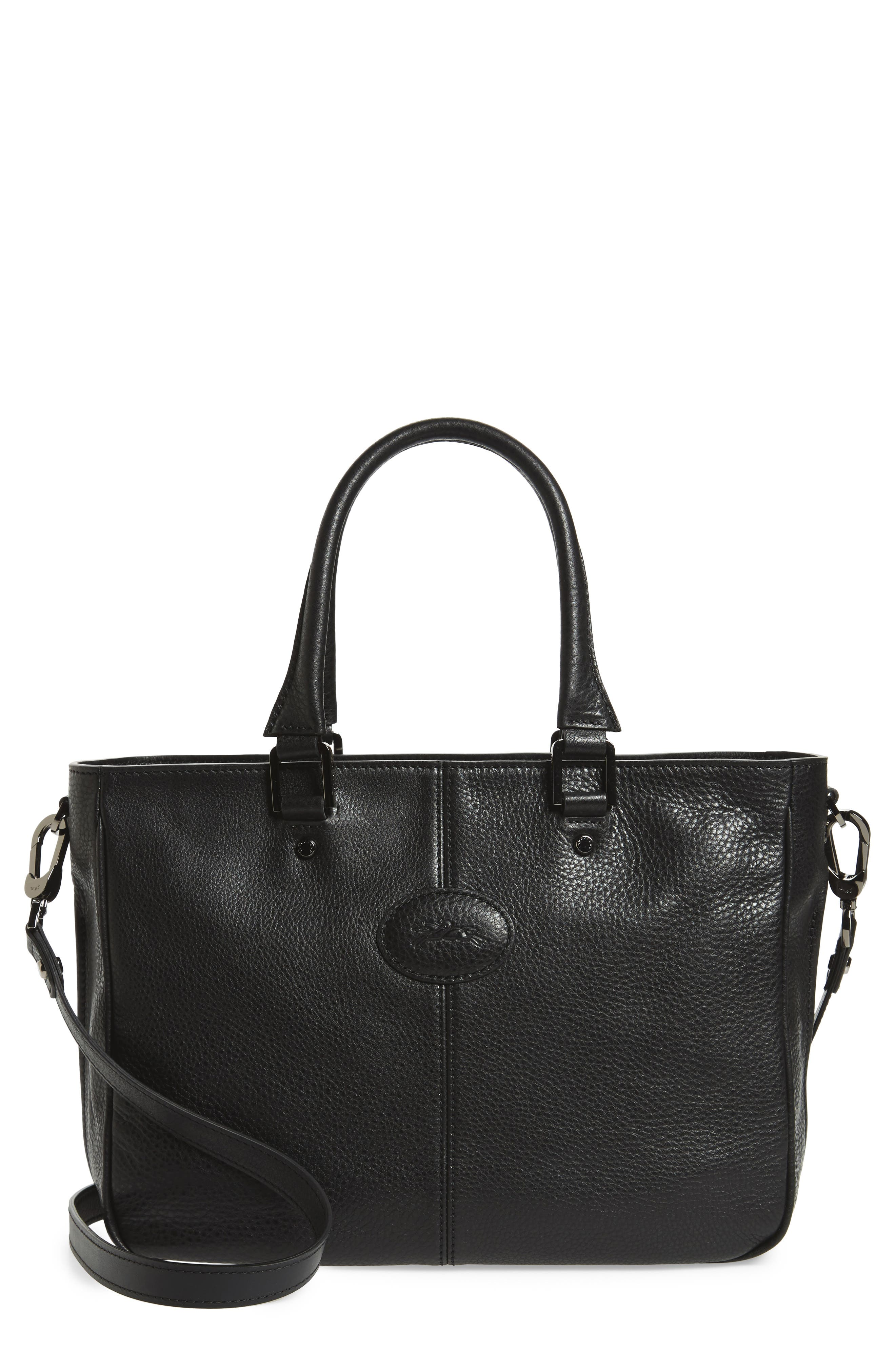 Mystery Leather Satchel,                         Main,                         color, 001