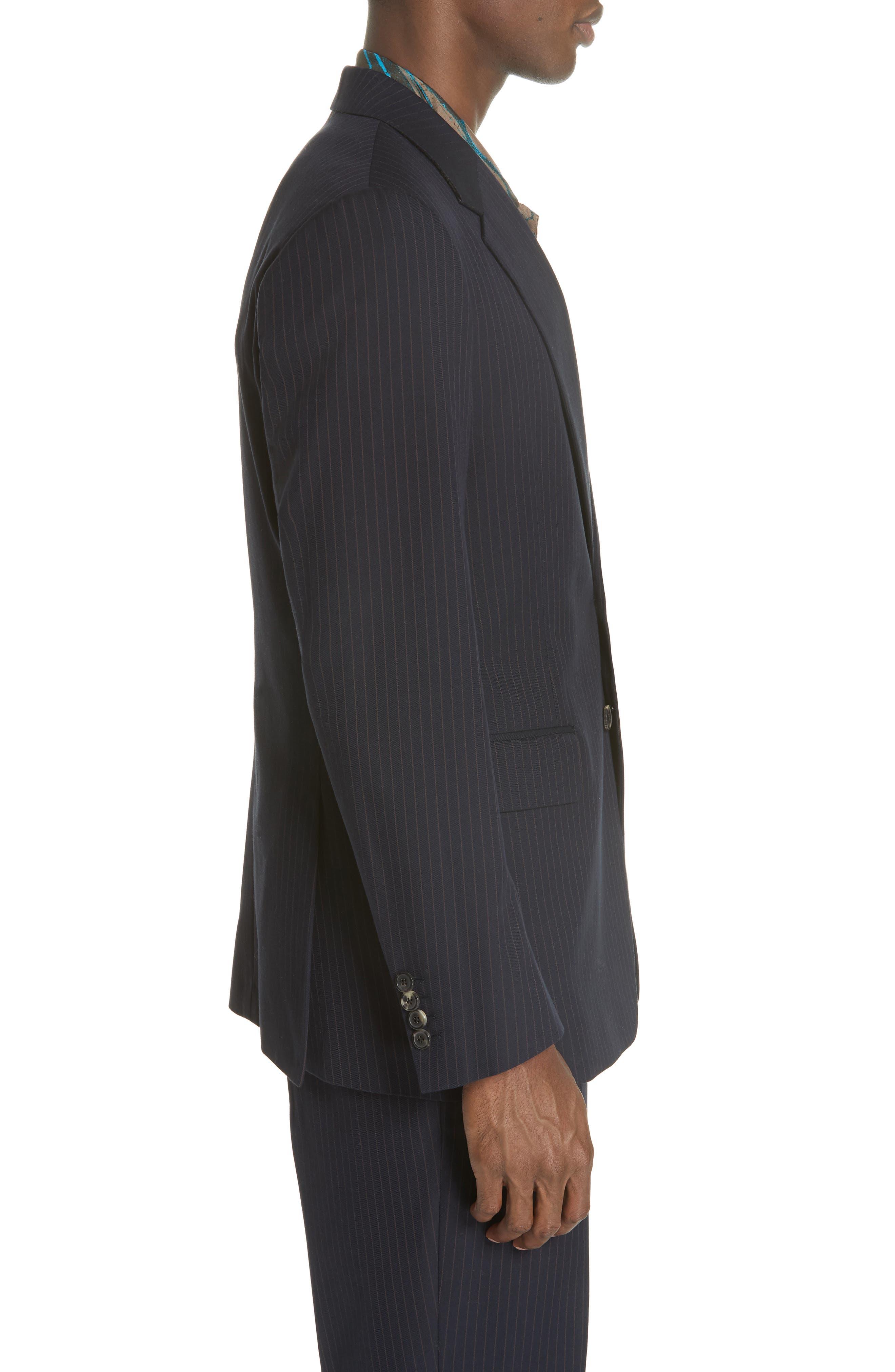 Burnes Pinstripe Jacket,                             Alternate thumbnail 3, color,                             NAVY 509