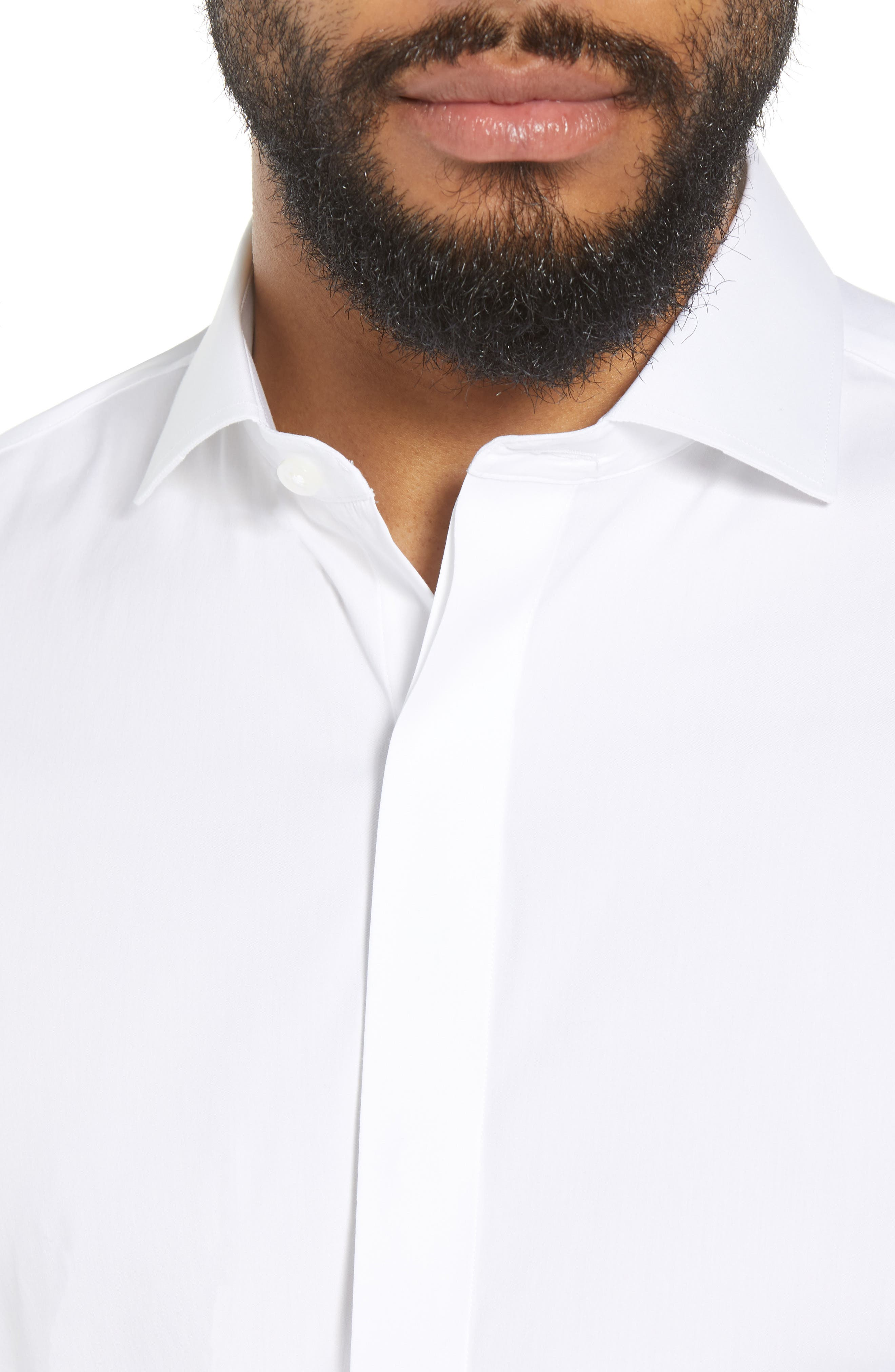 Capstone Stretch Slim Fit Tuxedo Shirt,                             Alternate thumbnail 2, color,                             WHITE
