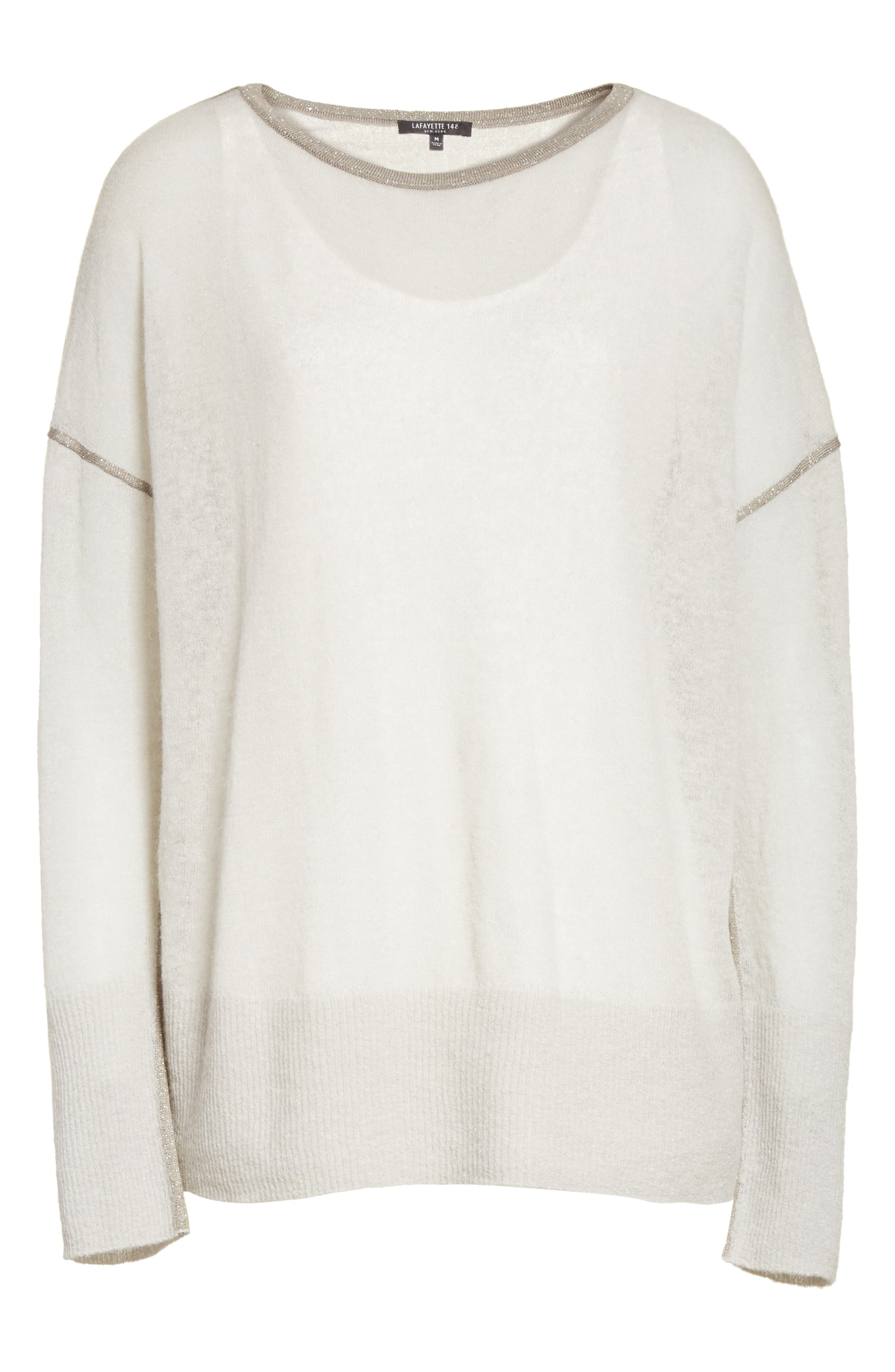 Sequin Trim Sweater with Tank,                             Alternate thumbnail 6, color,                             020