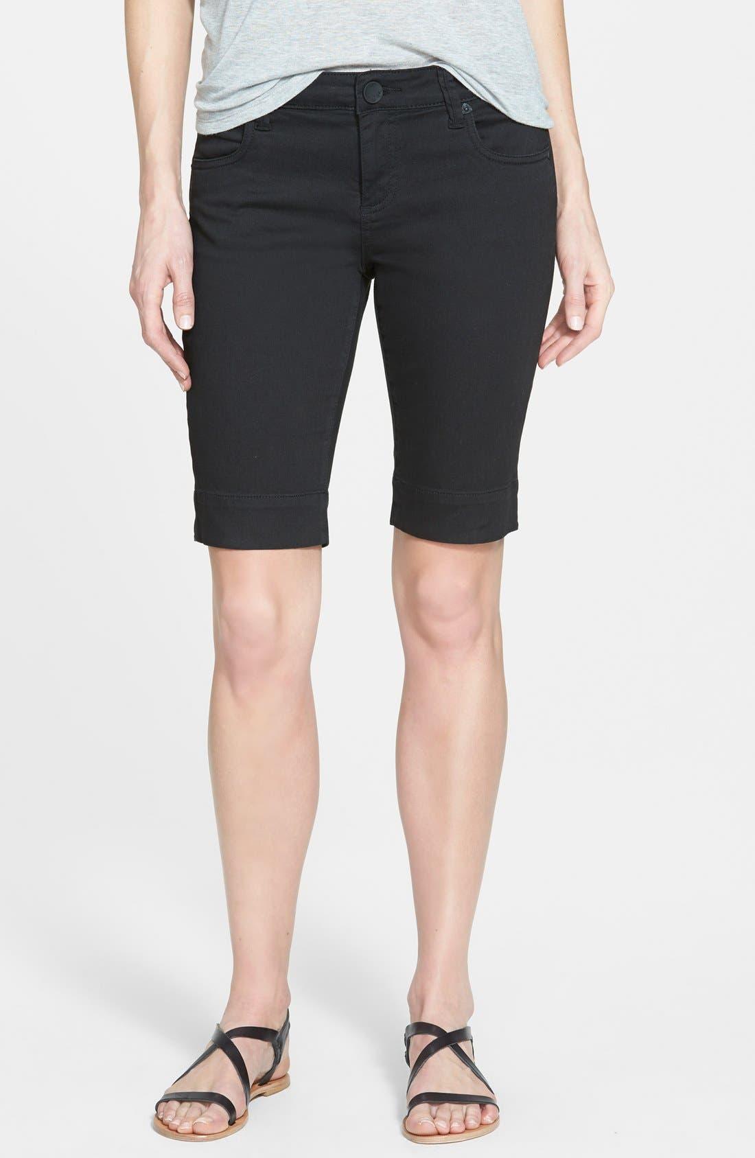 'Natalie' Twill Bermuda Shorts,                             Main thumbnail 1, color,                             001