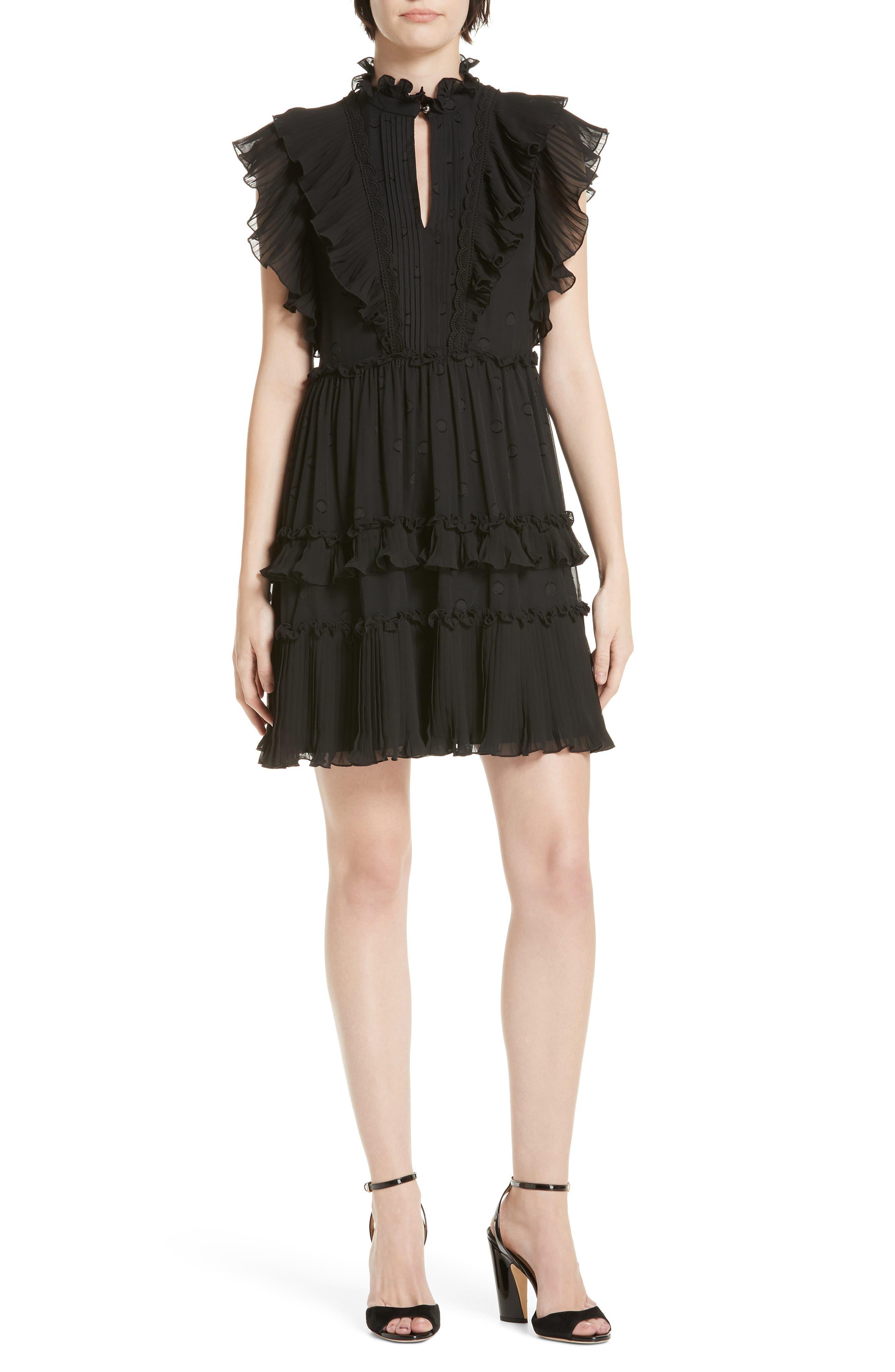 Kate Spade New York Bakery Devore Dot Dress, Black