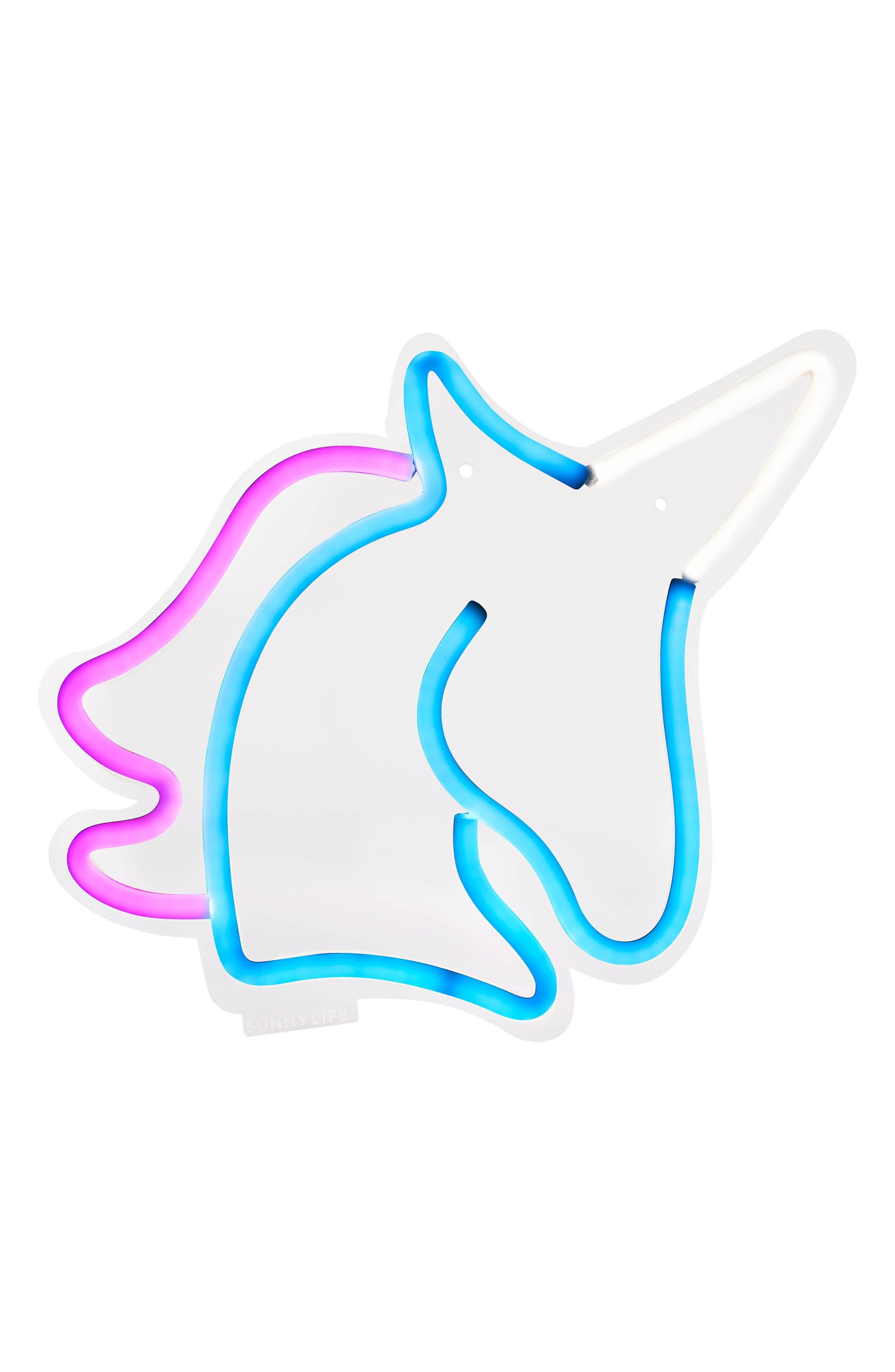 Small Unicorn Neon LED Wall Light,                             Main thumbnail 1, color,                             400