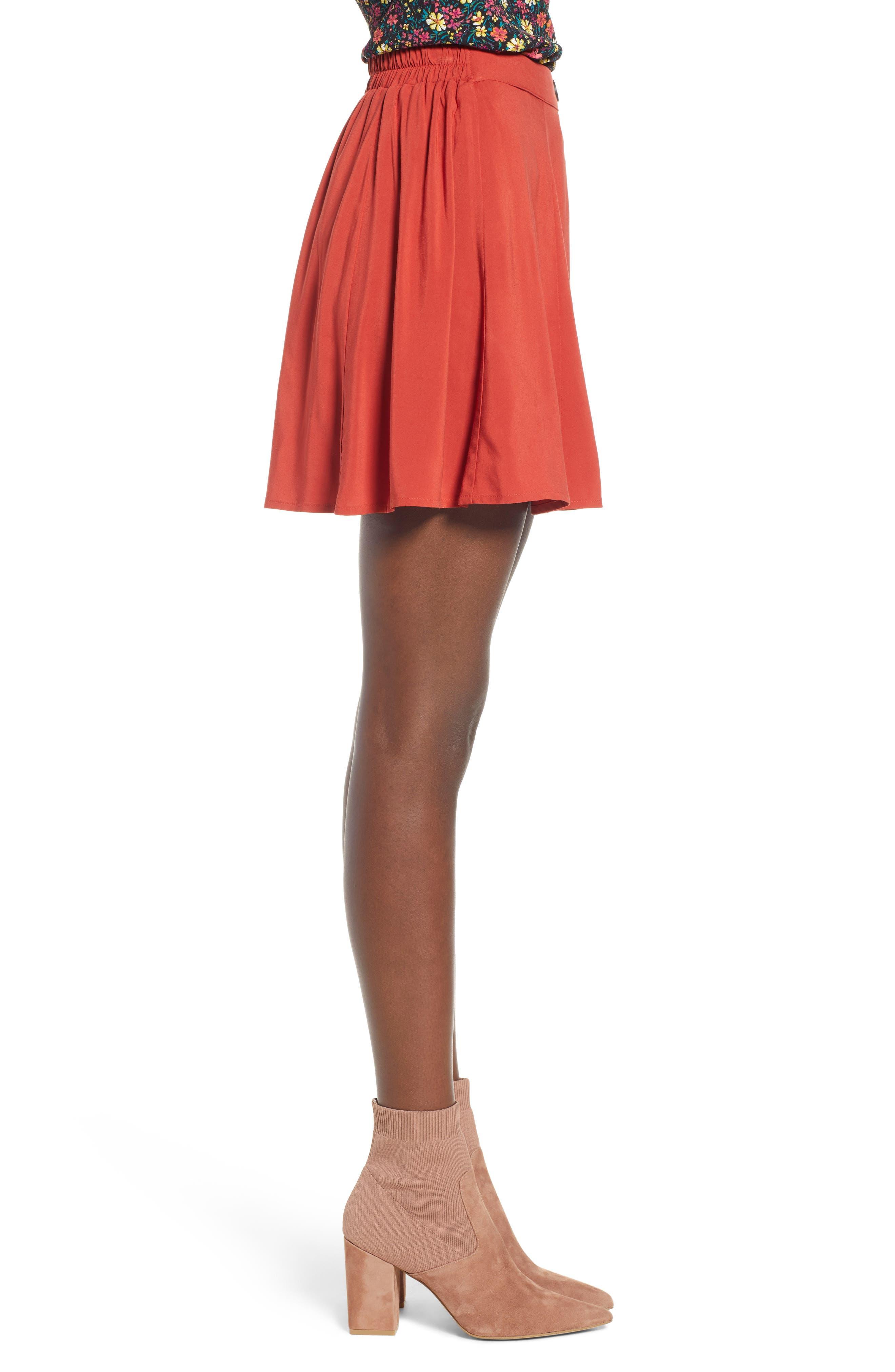 Button Front Skirt,                             Alternate thumbnail 3, color,                             649