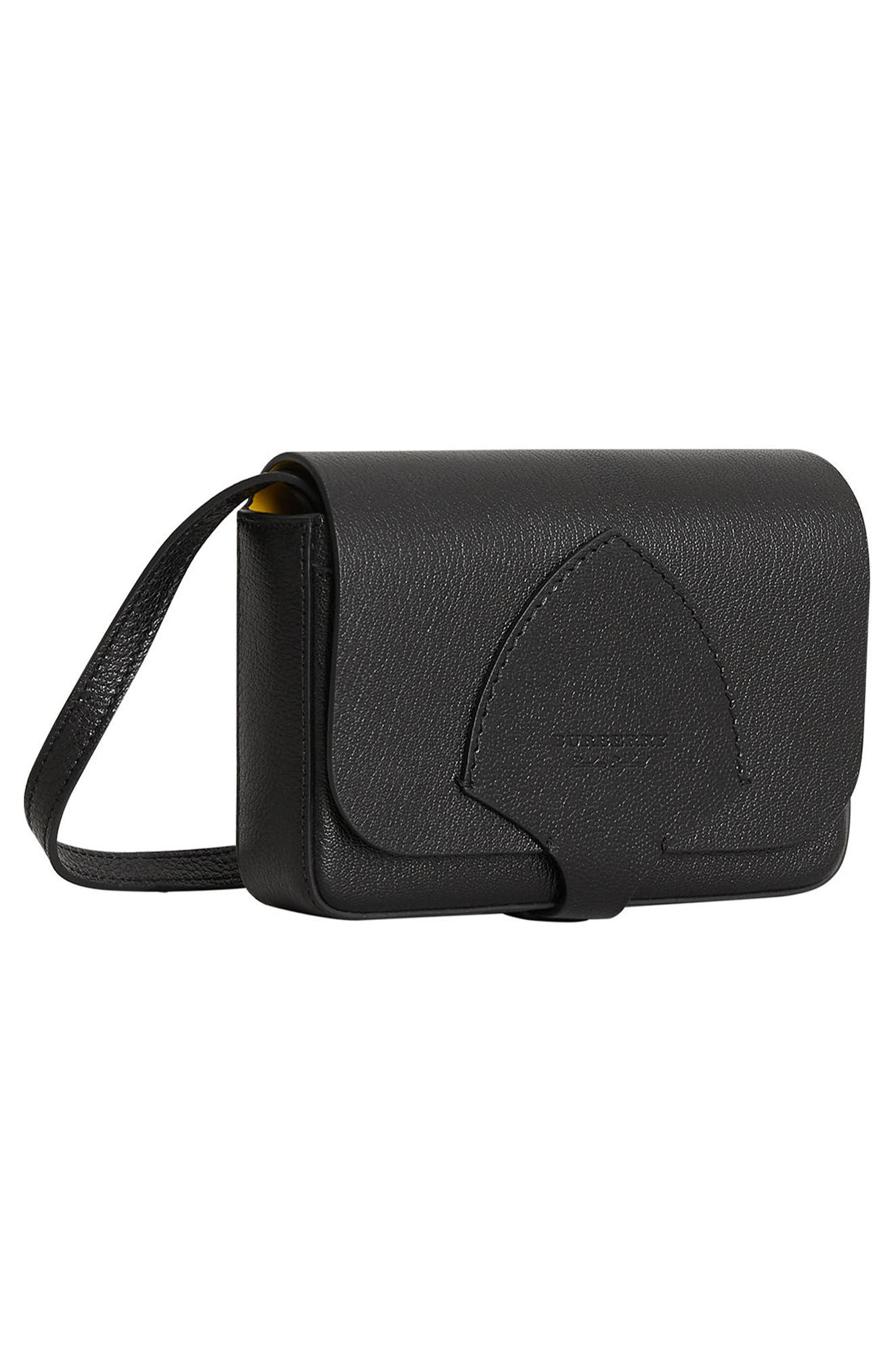 Hampshire Leather Crossbody Bag,                             Alternate thumbnail 4, color,                             001