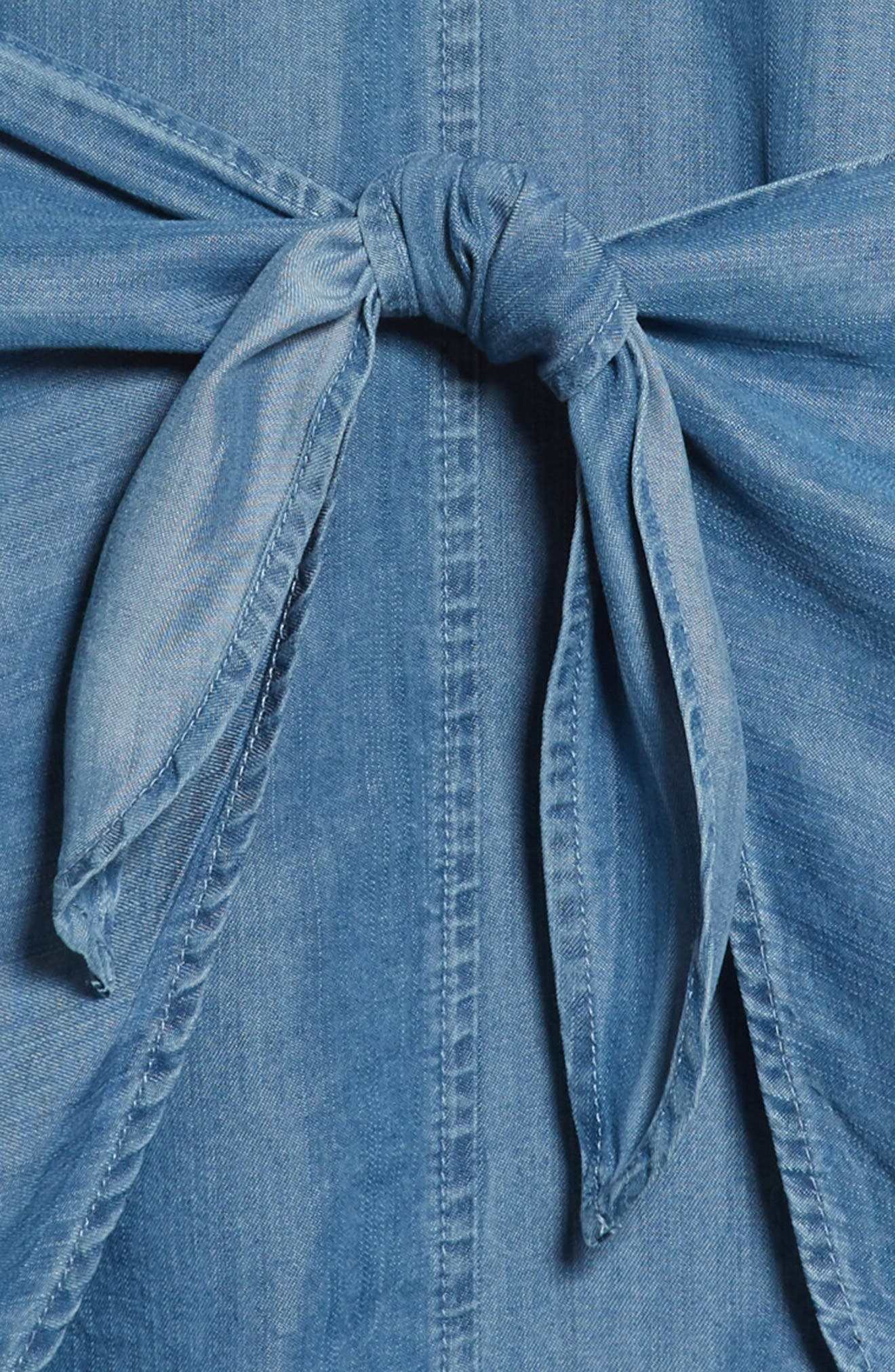 Denim Shirtdress,                             Alternate thumbnail 3, color,                             465