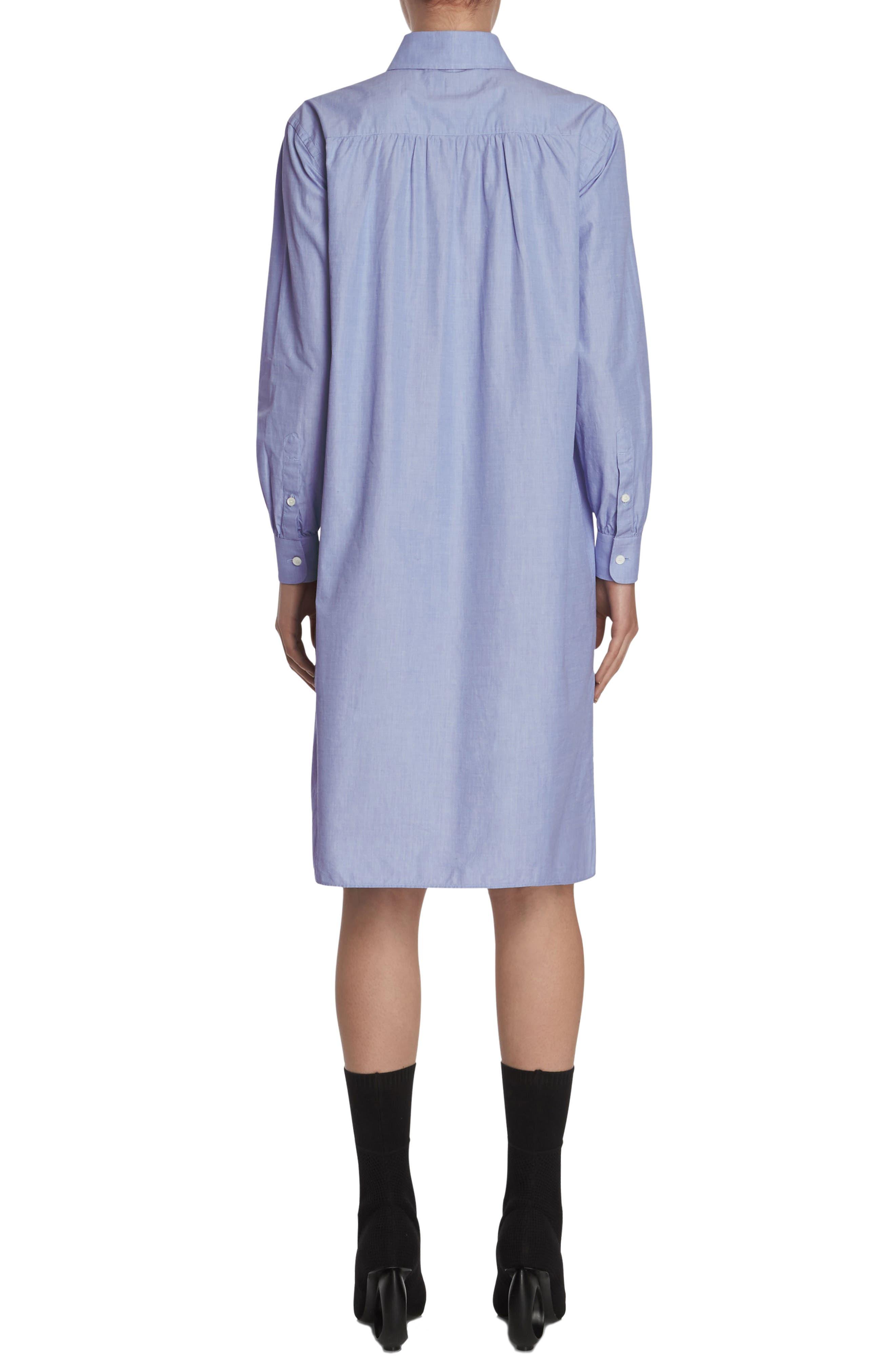 Pintuck Cotton Shirtdress,                             Alternate thumbnail 2, color,