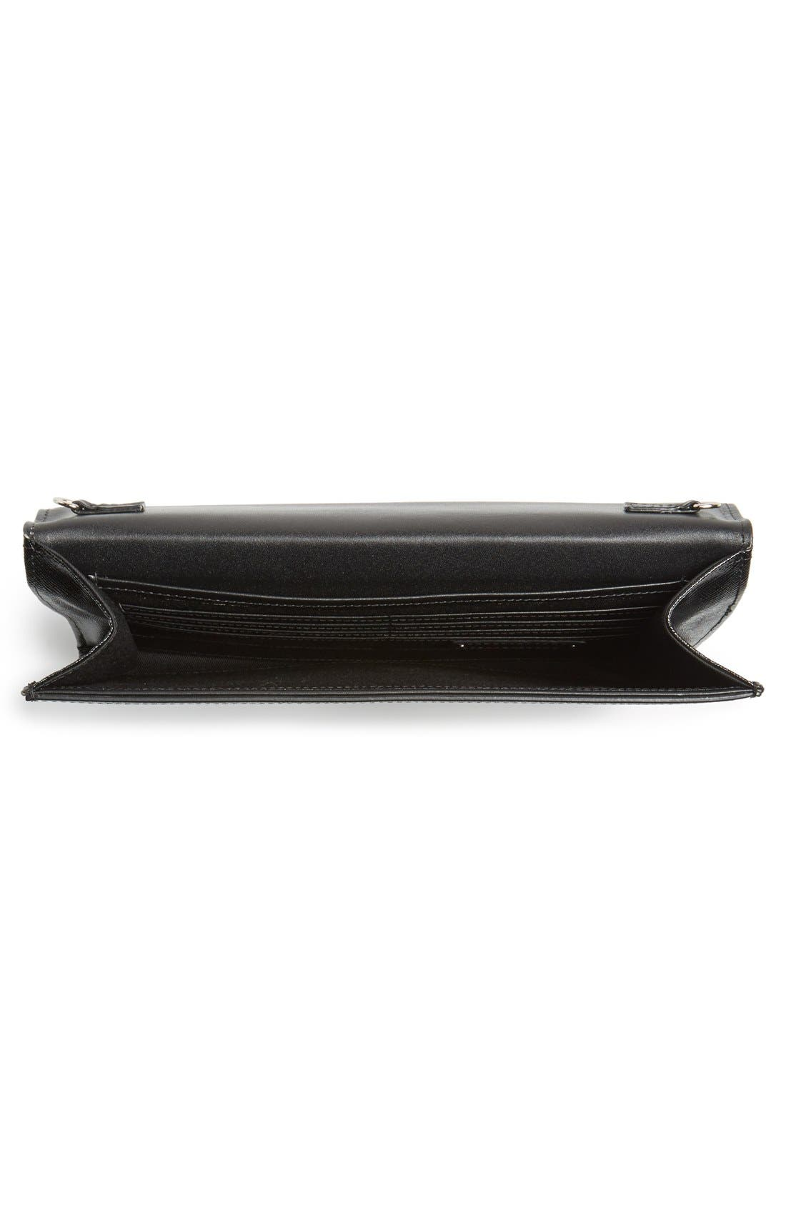 Angled Leather Day Clutch,                             Alternate thumbnail 2, color,                             001