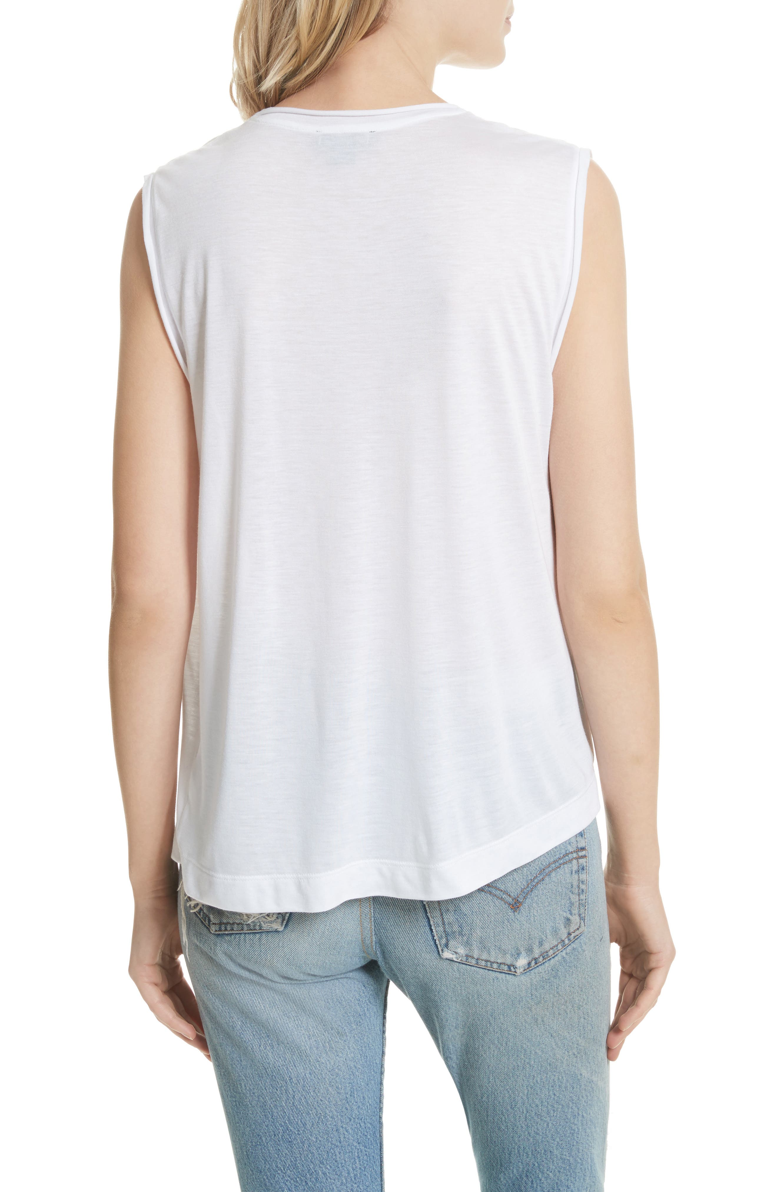 Perfect Muscle Tee,                             Alternate thumbnail 2, color,                             100