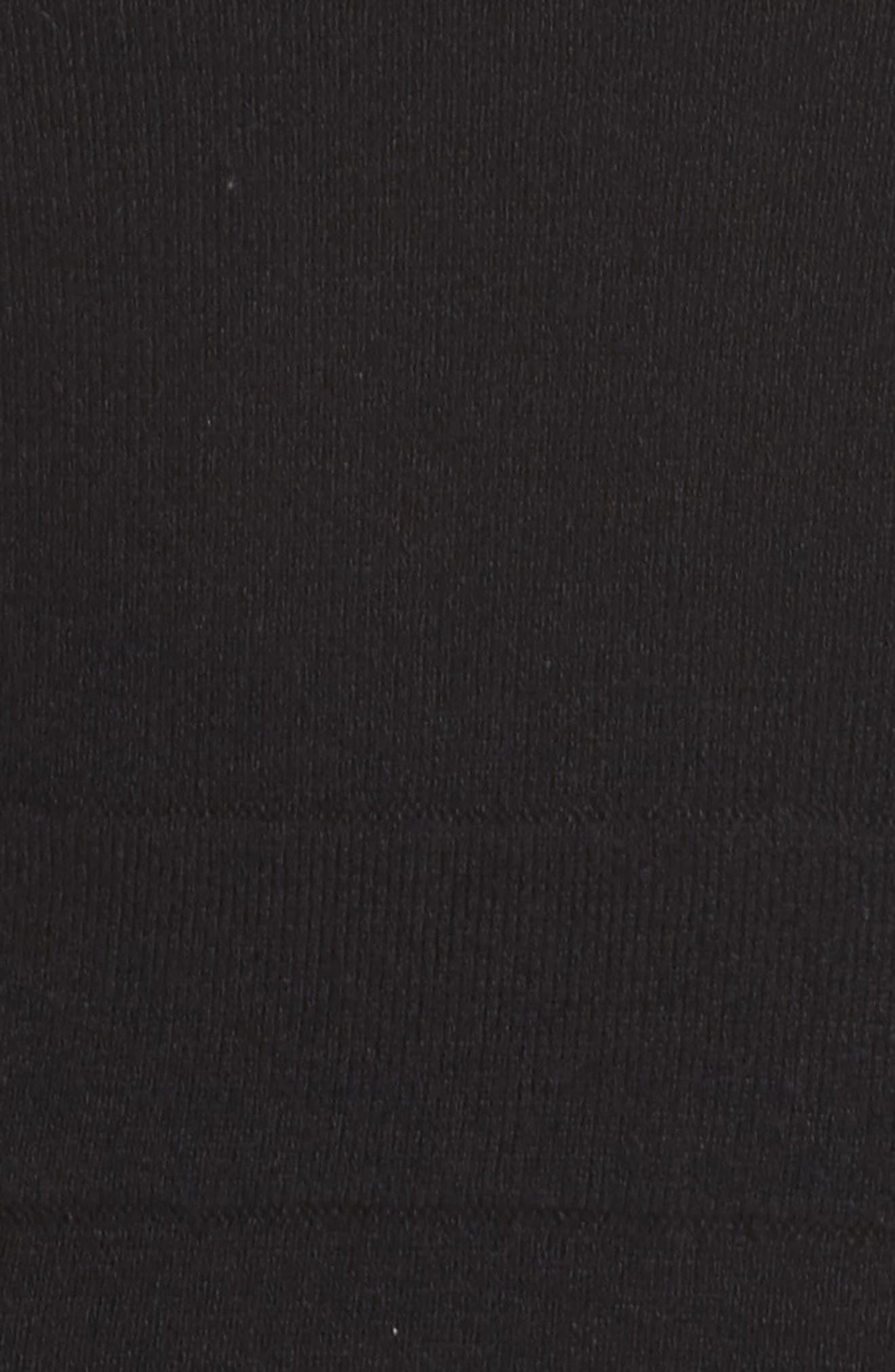 Scallop Trim Fit & Flare Dress,                             Alternate thumbnail 6, color,                             BLACK