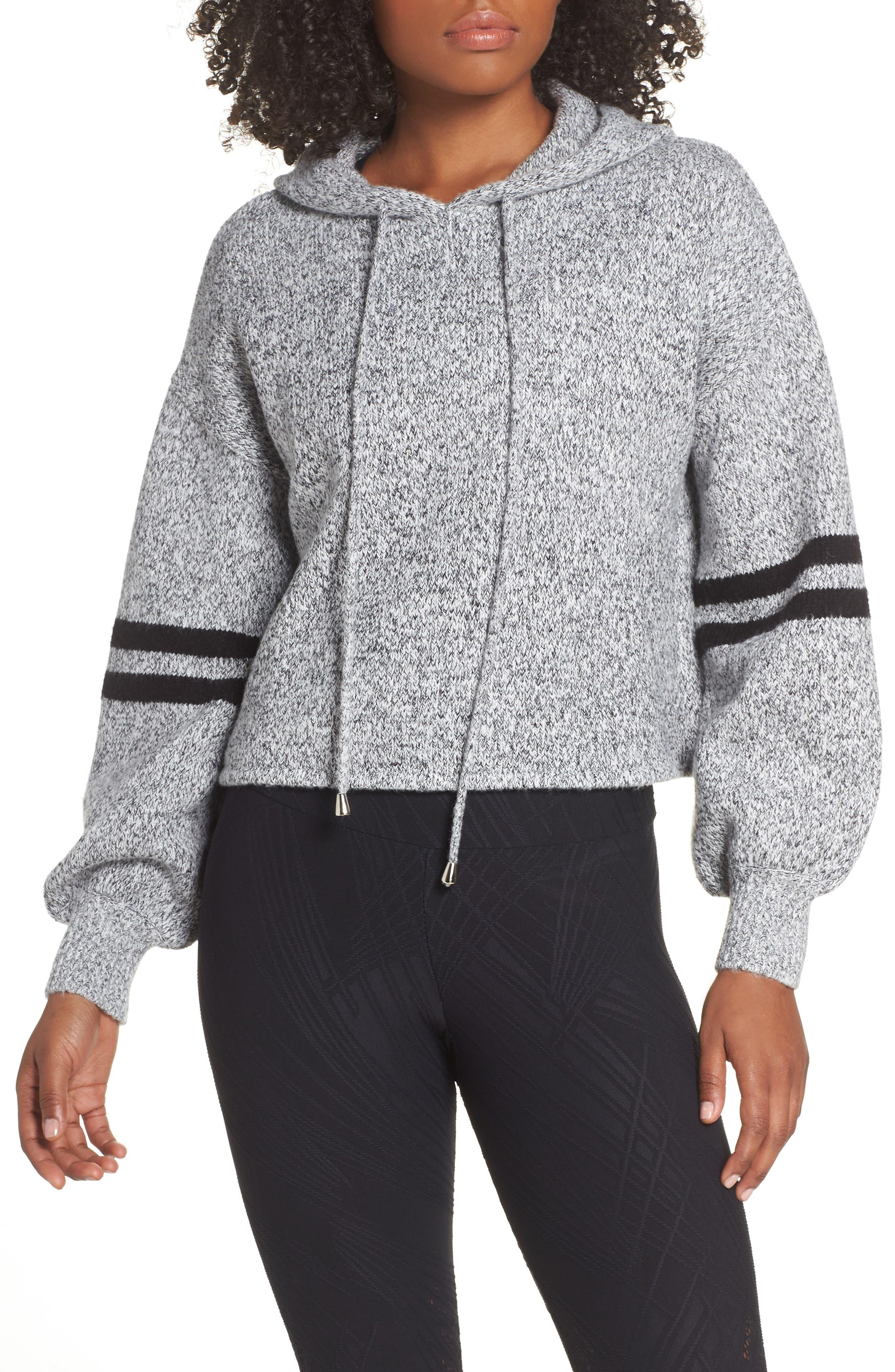 Onzie Varsity Hooded Sweater, Grey