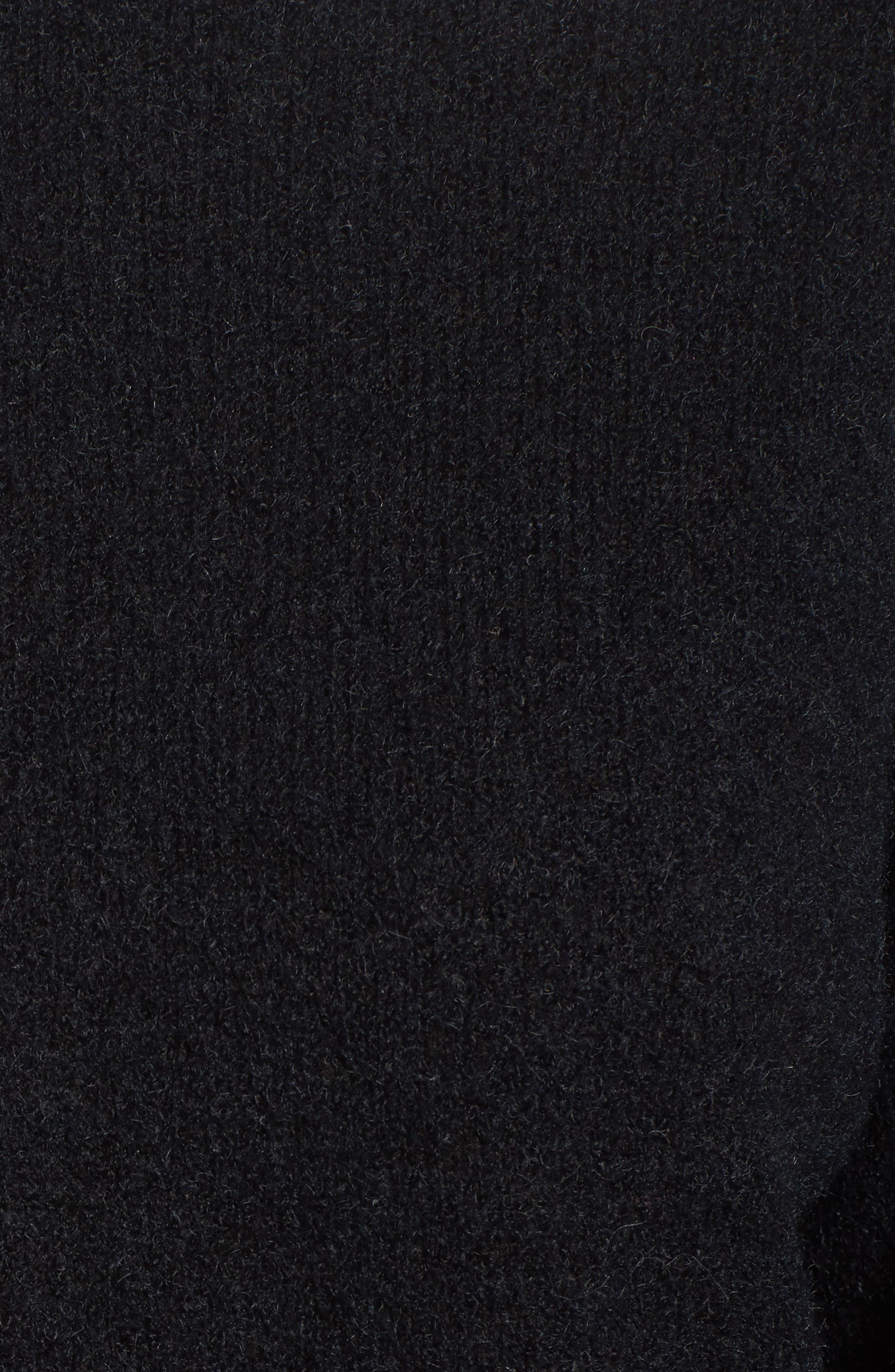 Bouclé Turtleneck Tunic Sweater,                             Alternate thumbnail 5, color,                             001
