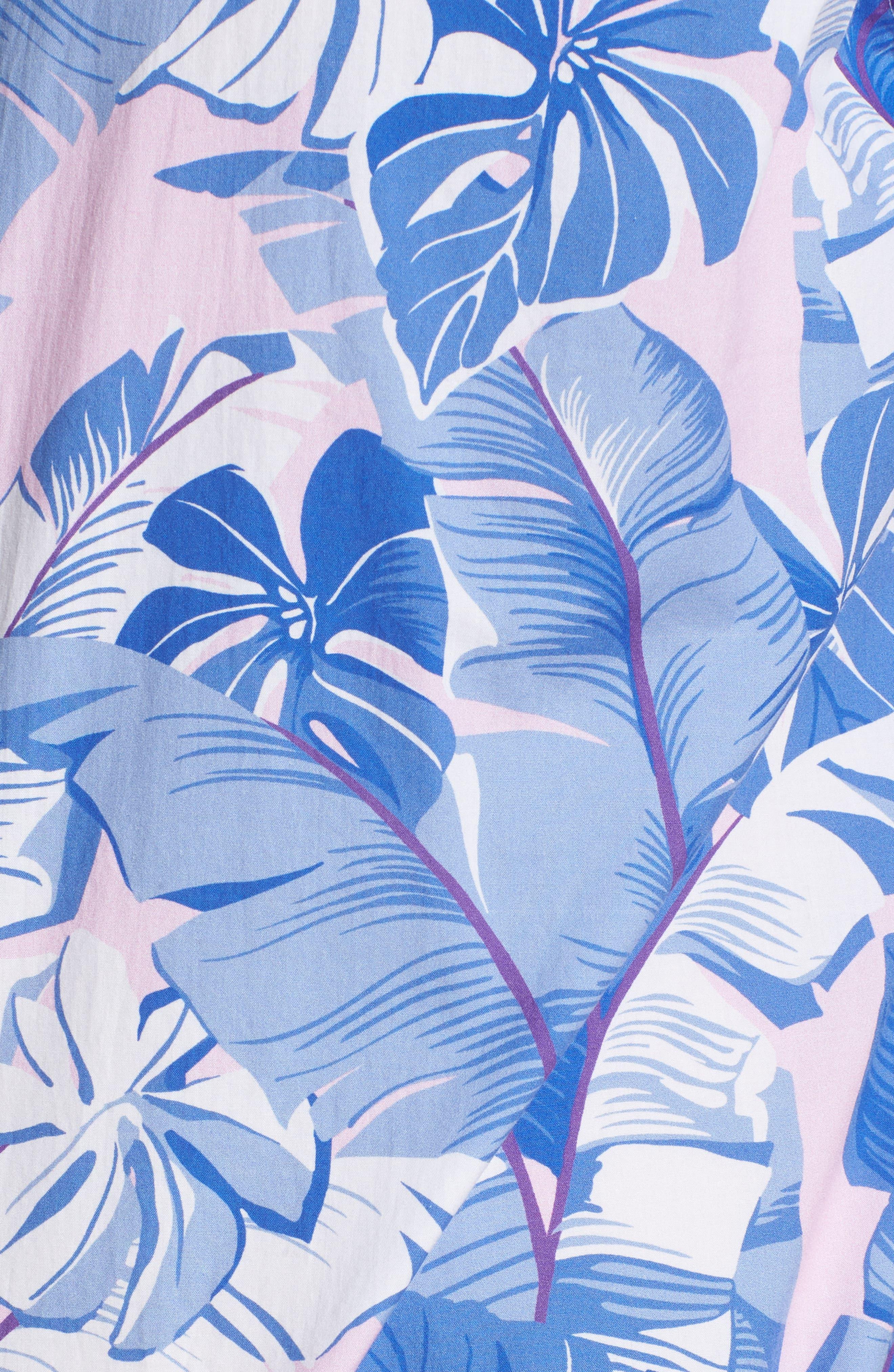 Slim Fit Tropical Print Premium Sport Shirt,                             Alternate thumbnail 5, color,                             400