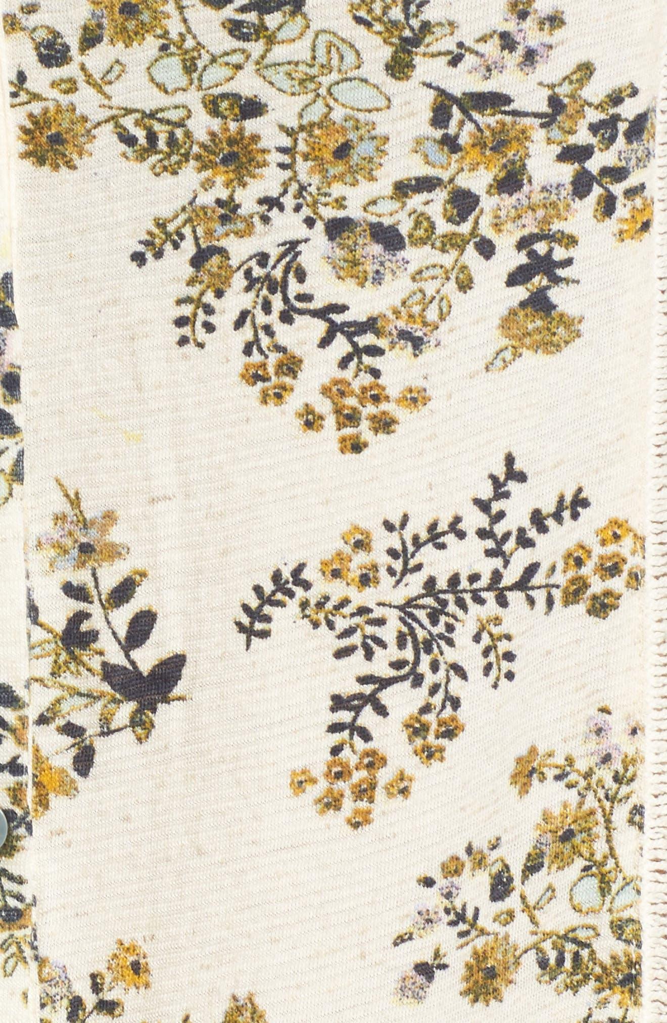 Floral Print Peplum Top,                             Alternate thumbnail 5, color,                             900