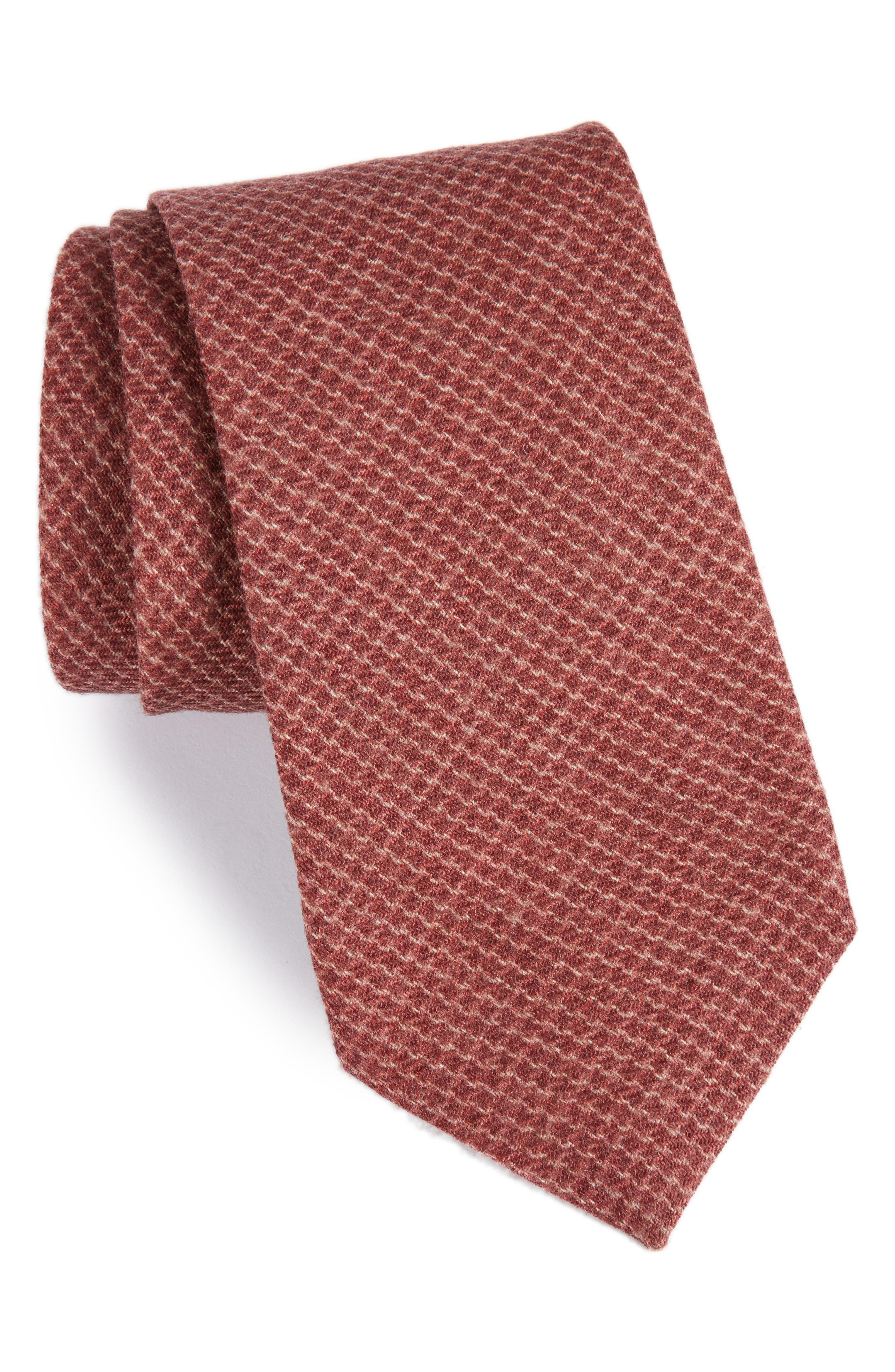 Geometric Wool Tie,                             Main thumbnail 4, color,