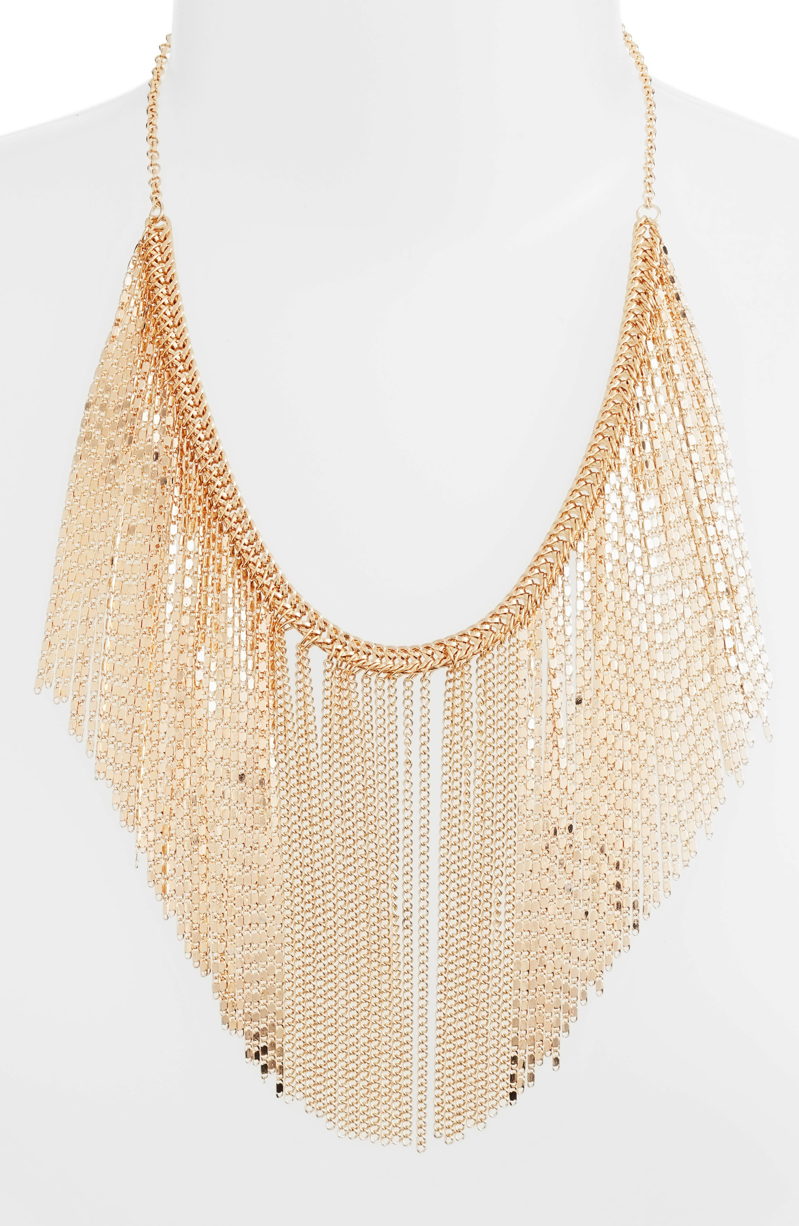 Waterfall Fringe Necklace,                         Main,                         color,