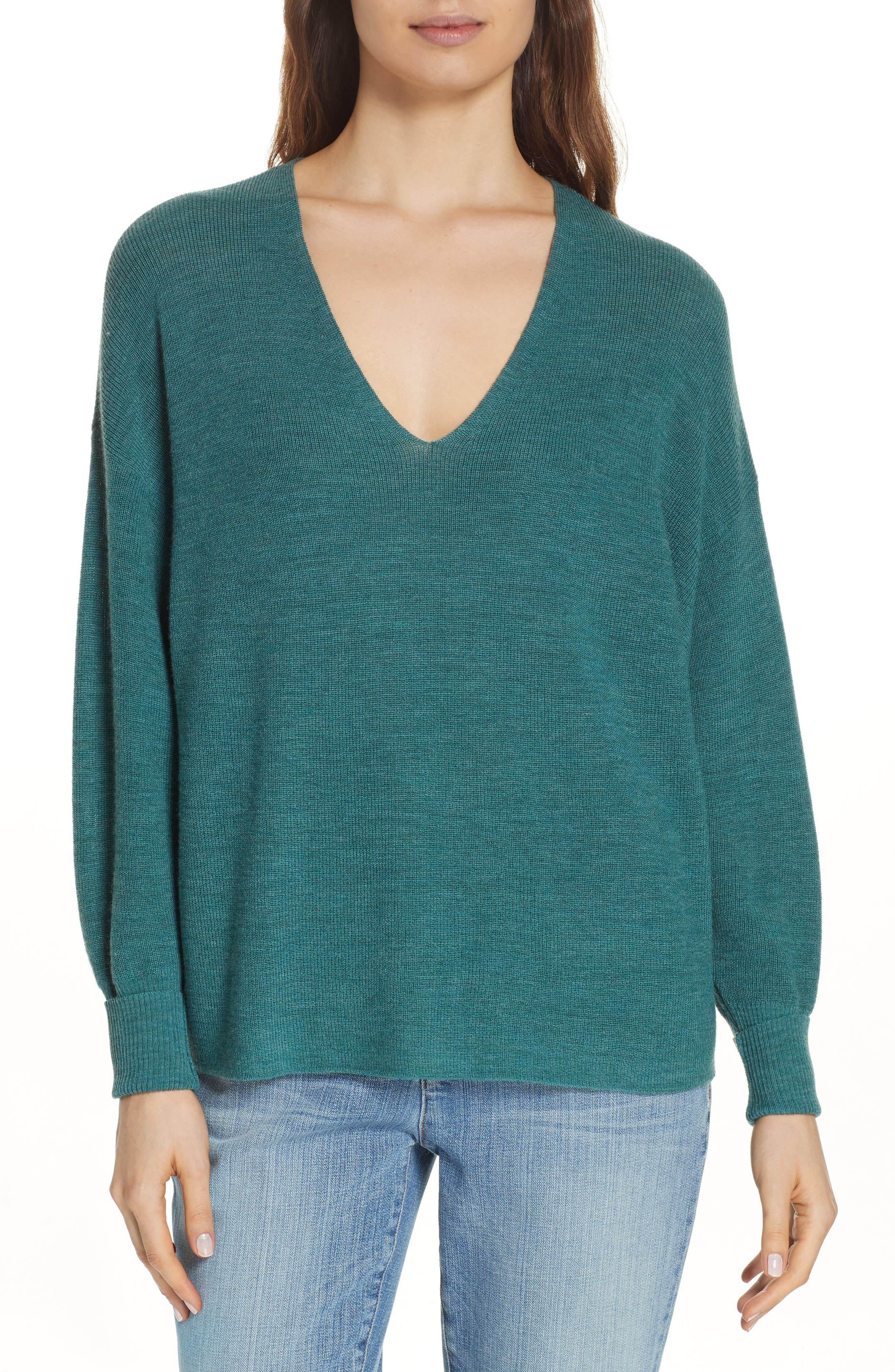 Eileen Fisher Merino Wool Sweater, Green