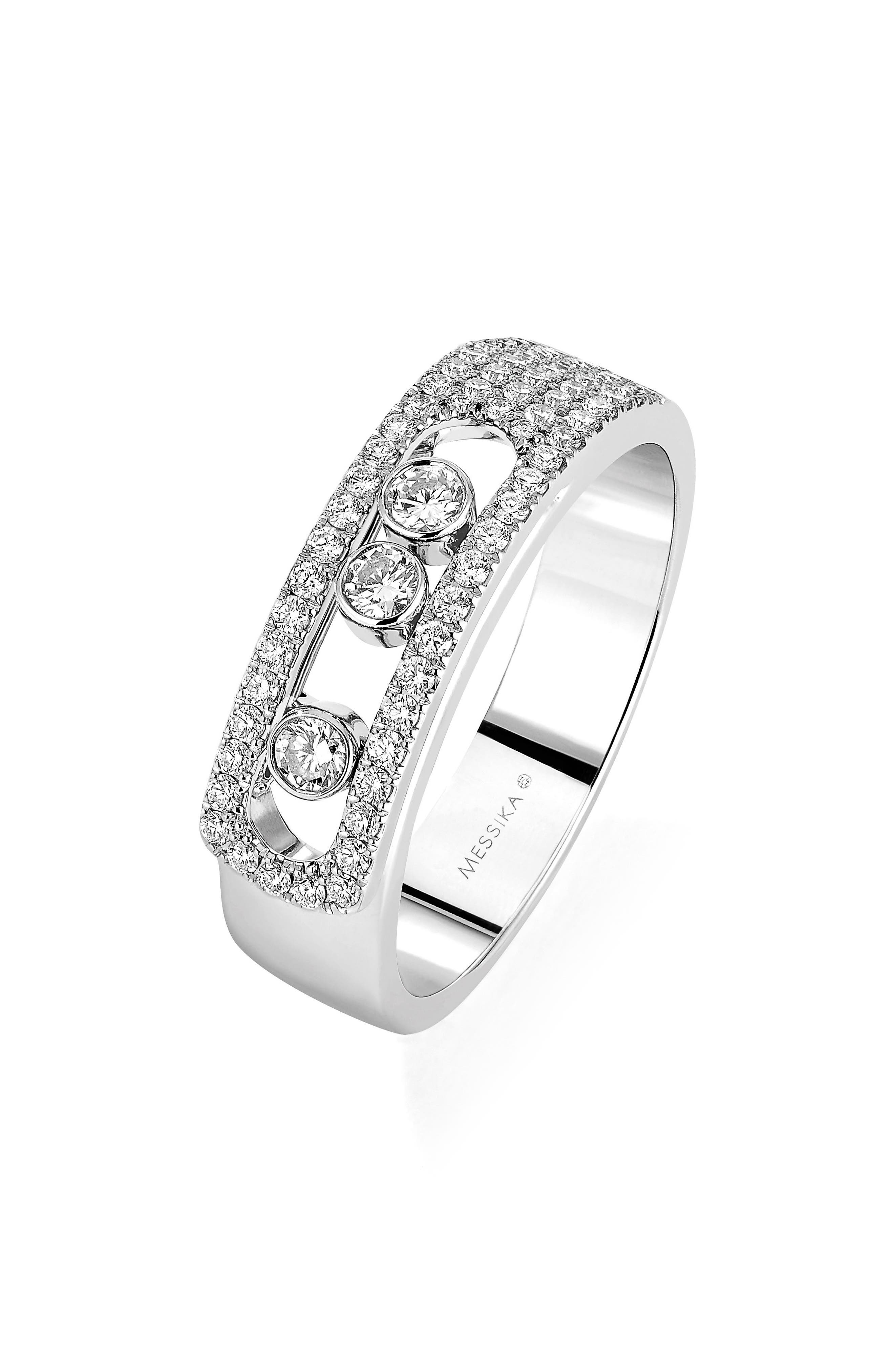 Move Noa Diamond Ring,                             Main thumbnail 1, color,                             WHITE GOLD