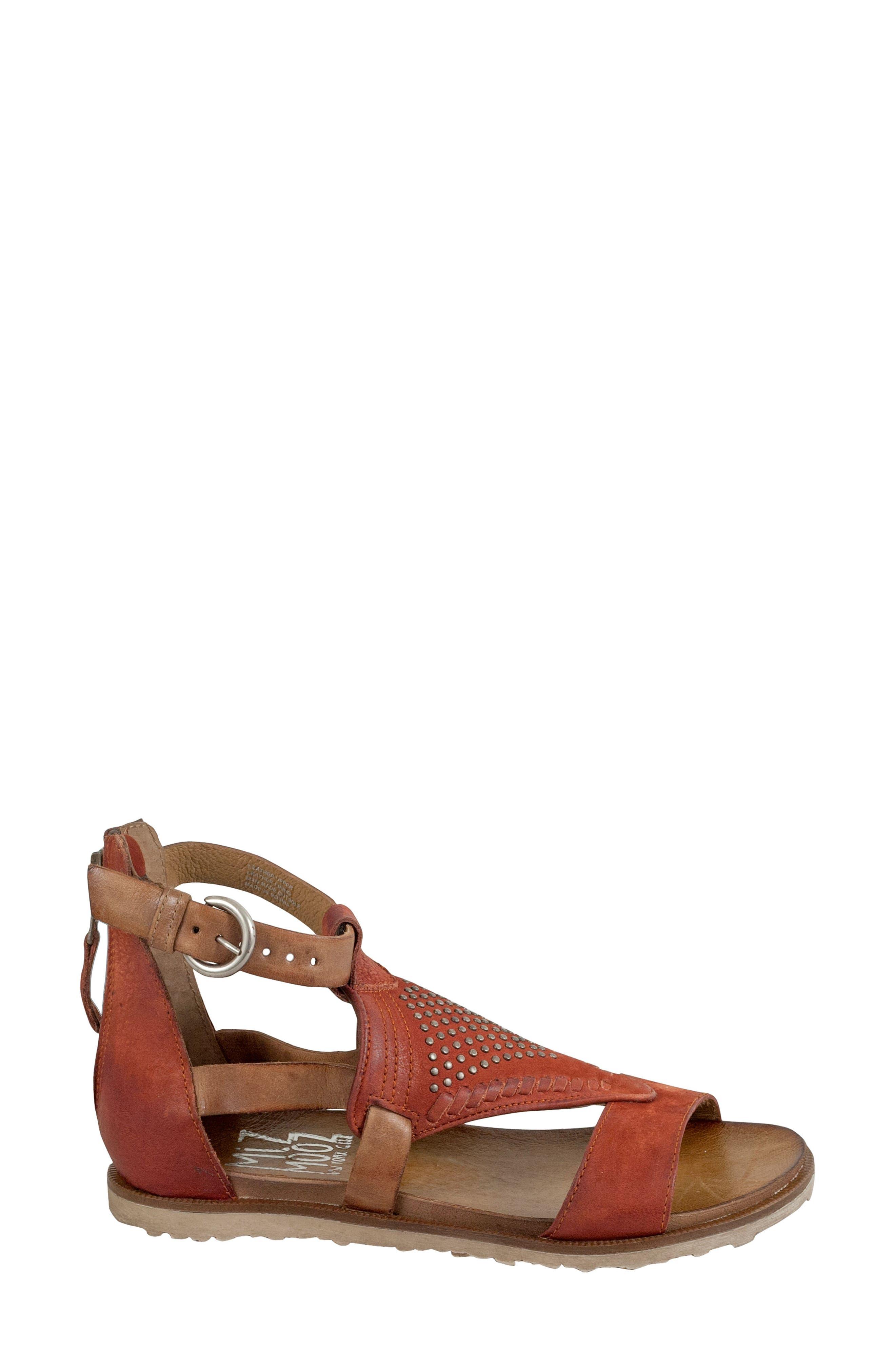Tessa Studded Diamond Sandal,                             Alternate thumbnail 6, color,