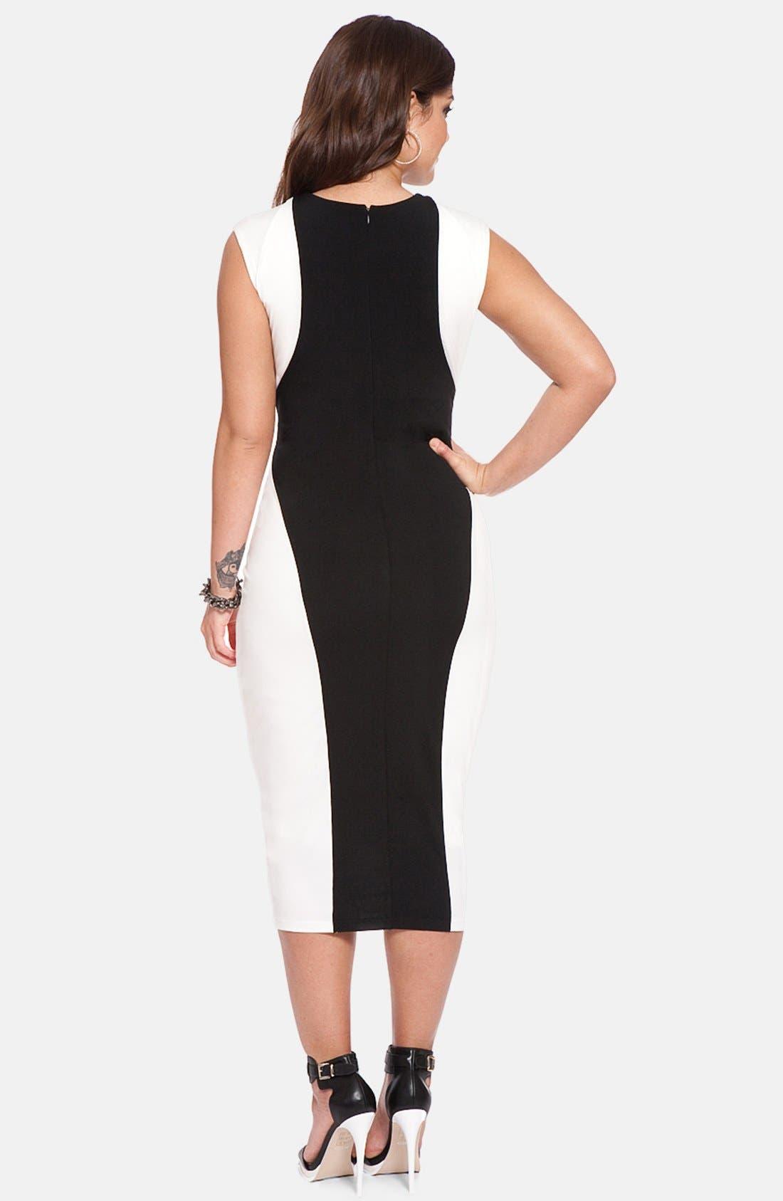Colorblock Midi Dress,                             Alternate thumbnail 2, color,                             110