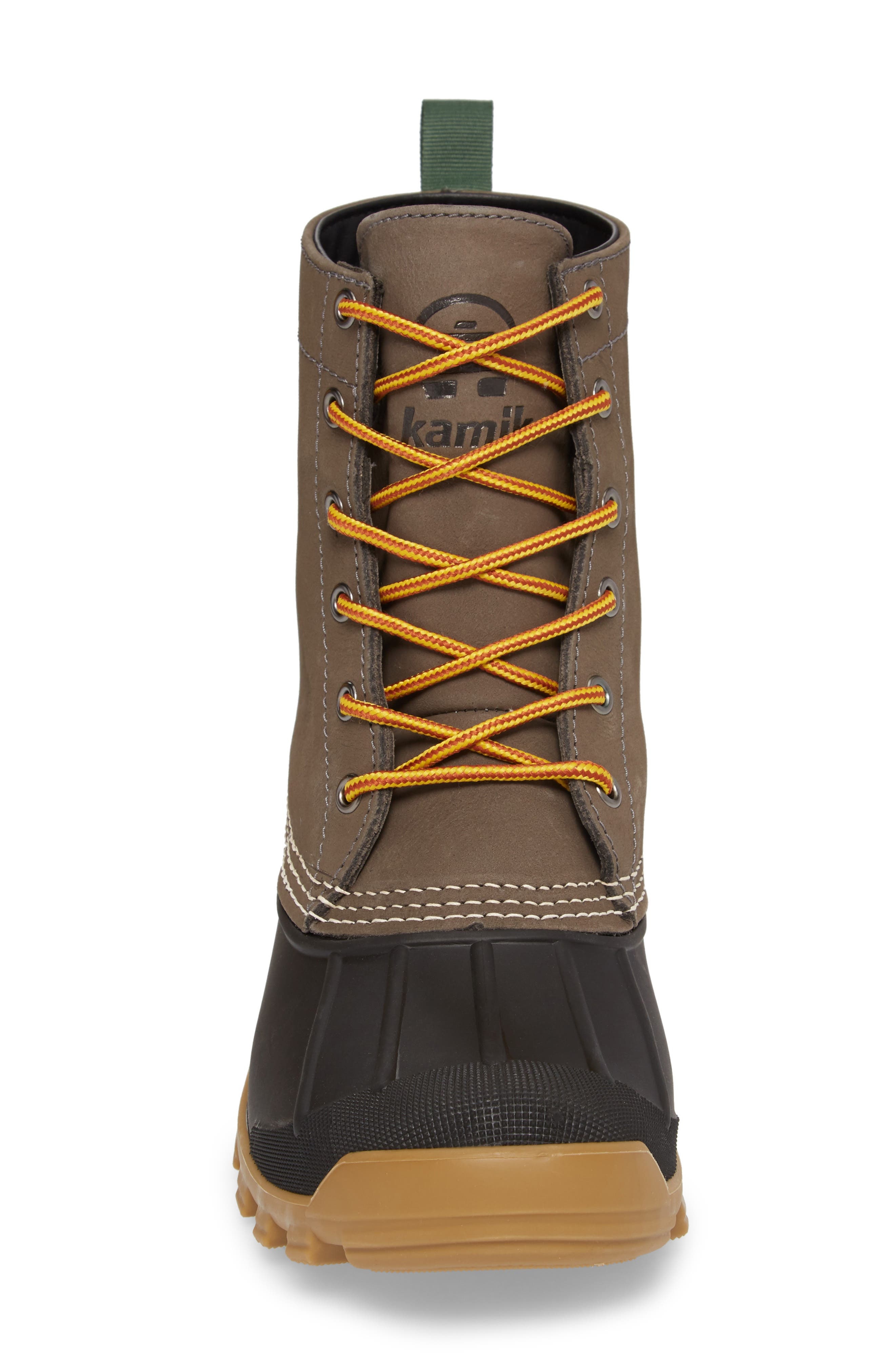 Yukon 6 Waterproof Insulated Three-Season Boot,                             Alternate thumbnail 4, color,                             CHARCOAL LEATHER