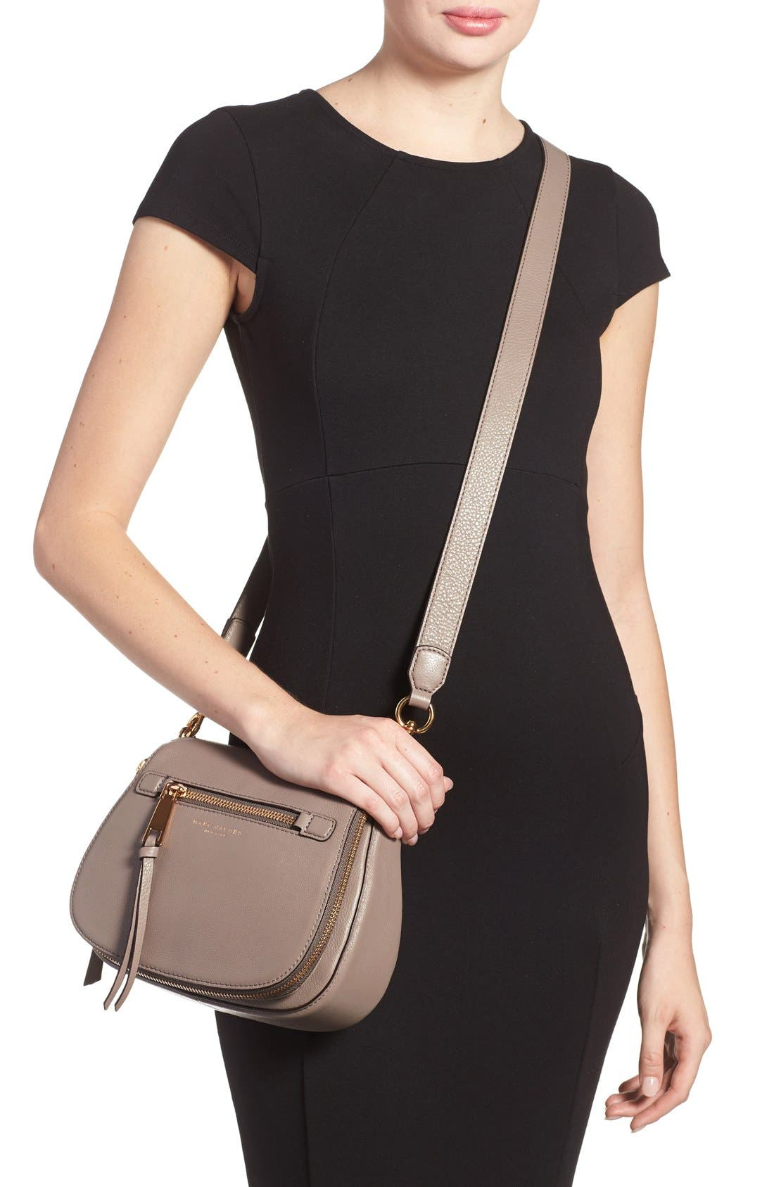 Small Recruit Nomad Pebbled Leather Crossbody Bag,                             Alternate thumbnail 34, color,