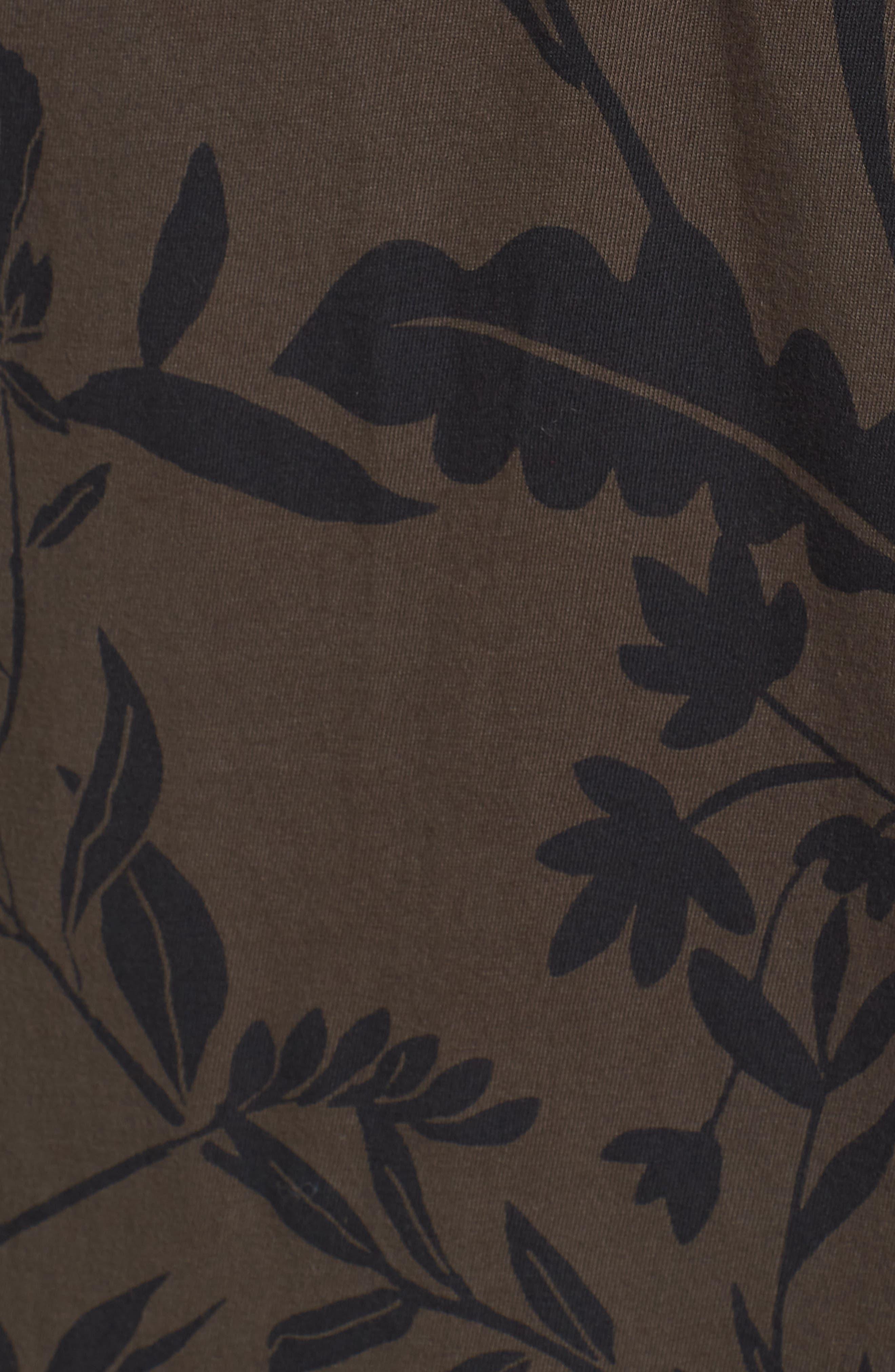 Floral Print T-Shirt,                             Alternate thumbnail 5, color,