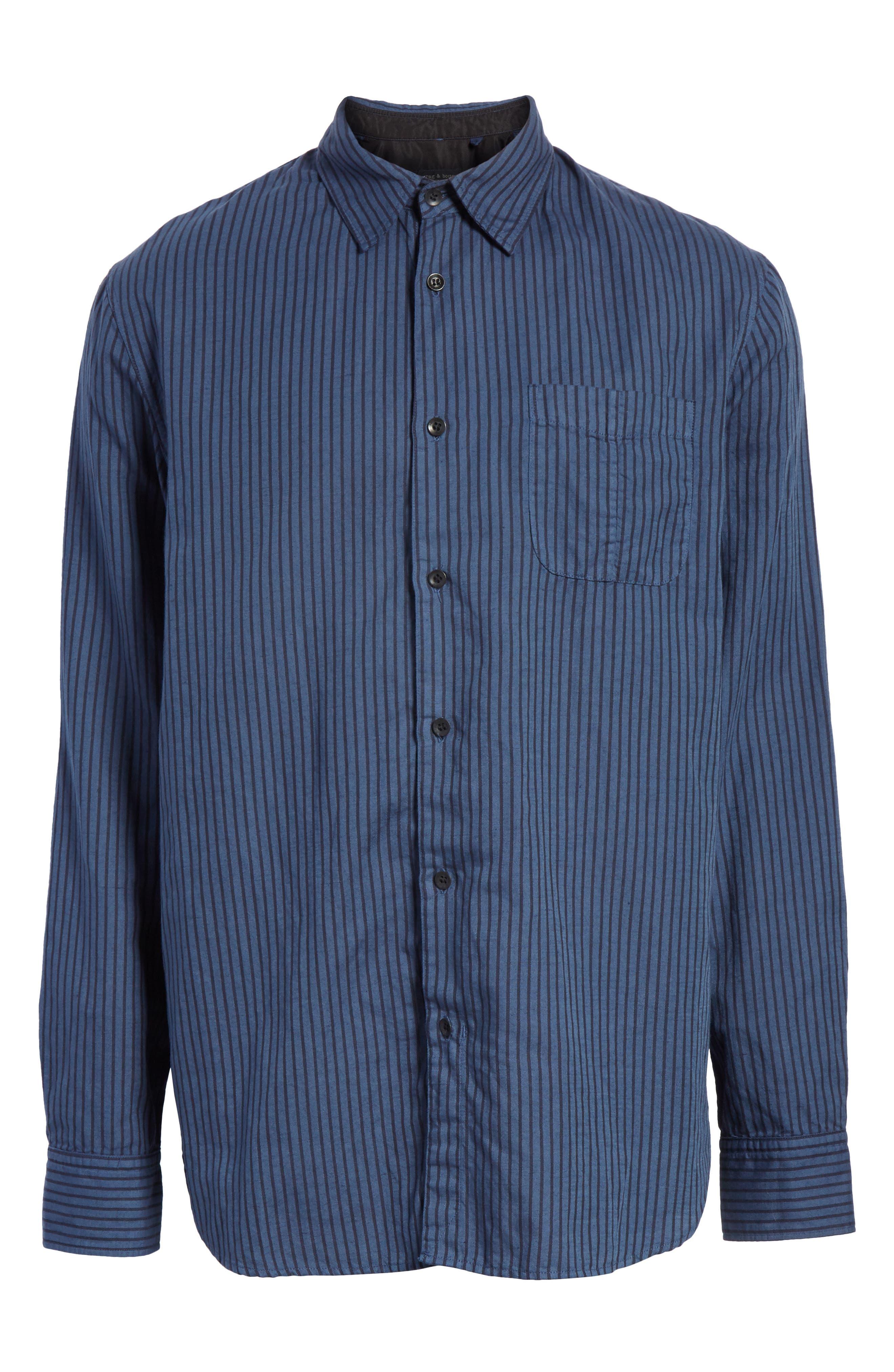 Beach Fit 3 Stripe Shirt,                             Alternate thumbnail 6, color,