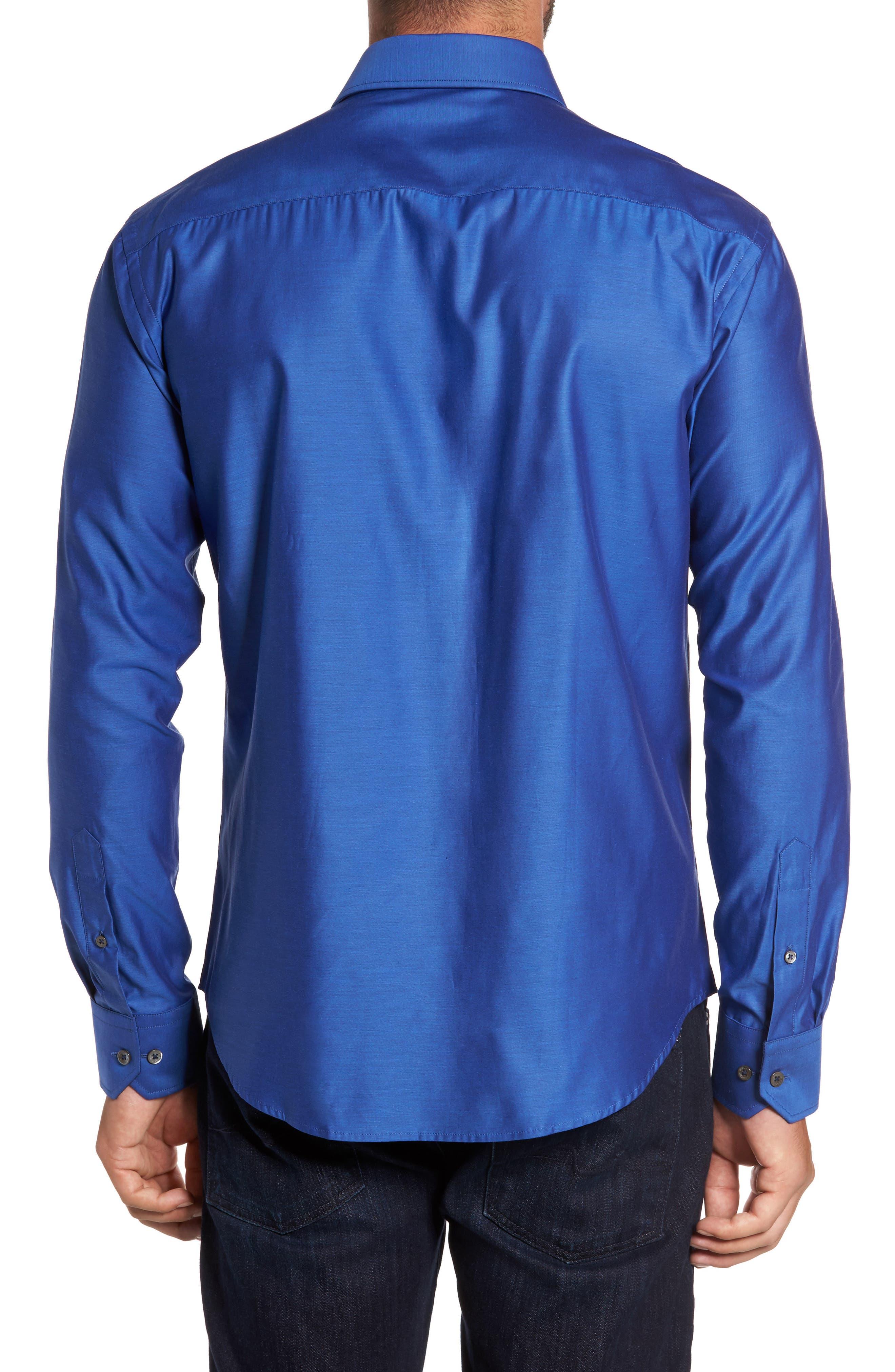 Trim Fit Solid Sport Shirt,                             Alternate thumbnail 8, color,