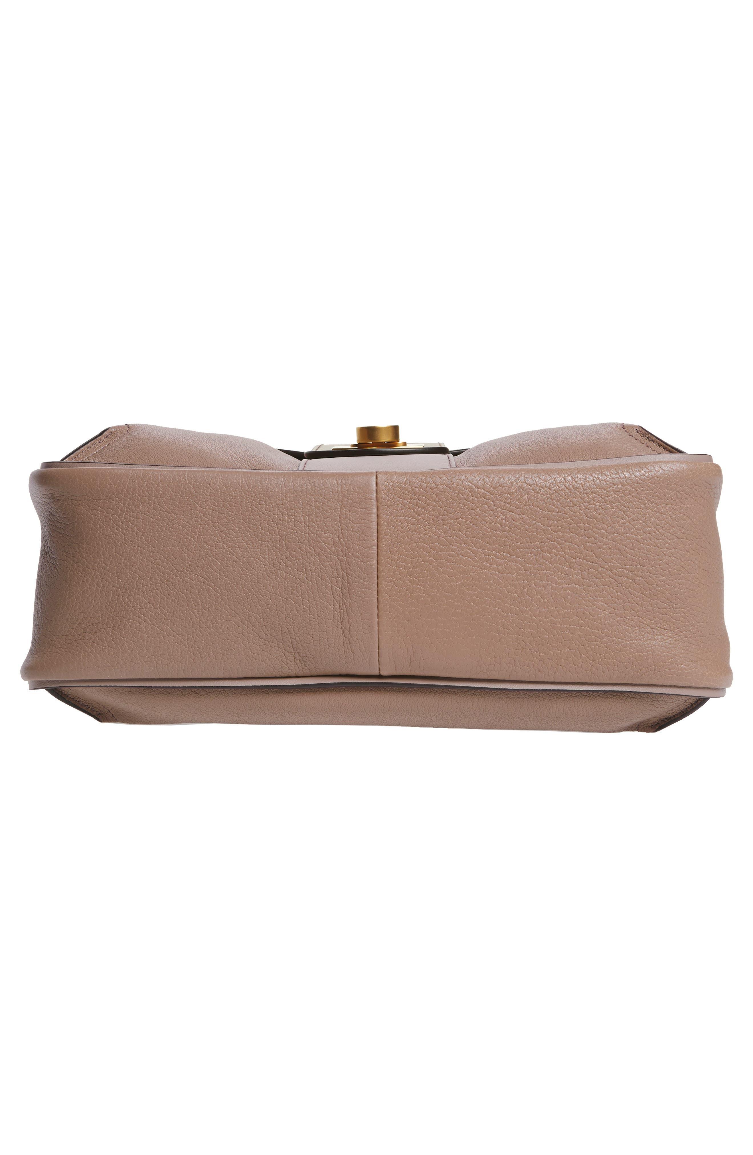 CHLOÉ,                             Small Lexa Leather Shoulder Bag,                             Alternate thumbnail 6, color,                             031