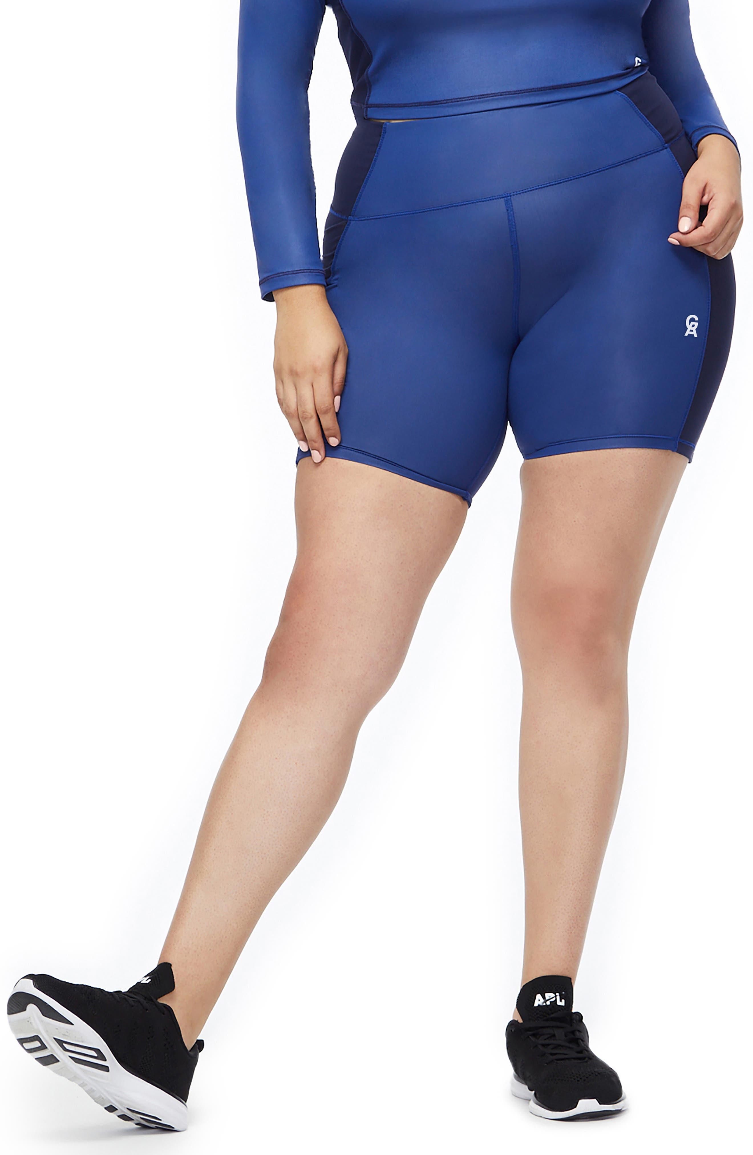 High Waist Biker Shorts,                             Alternate thumbnail 2, color,                             BLUE001