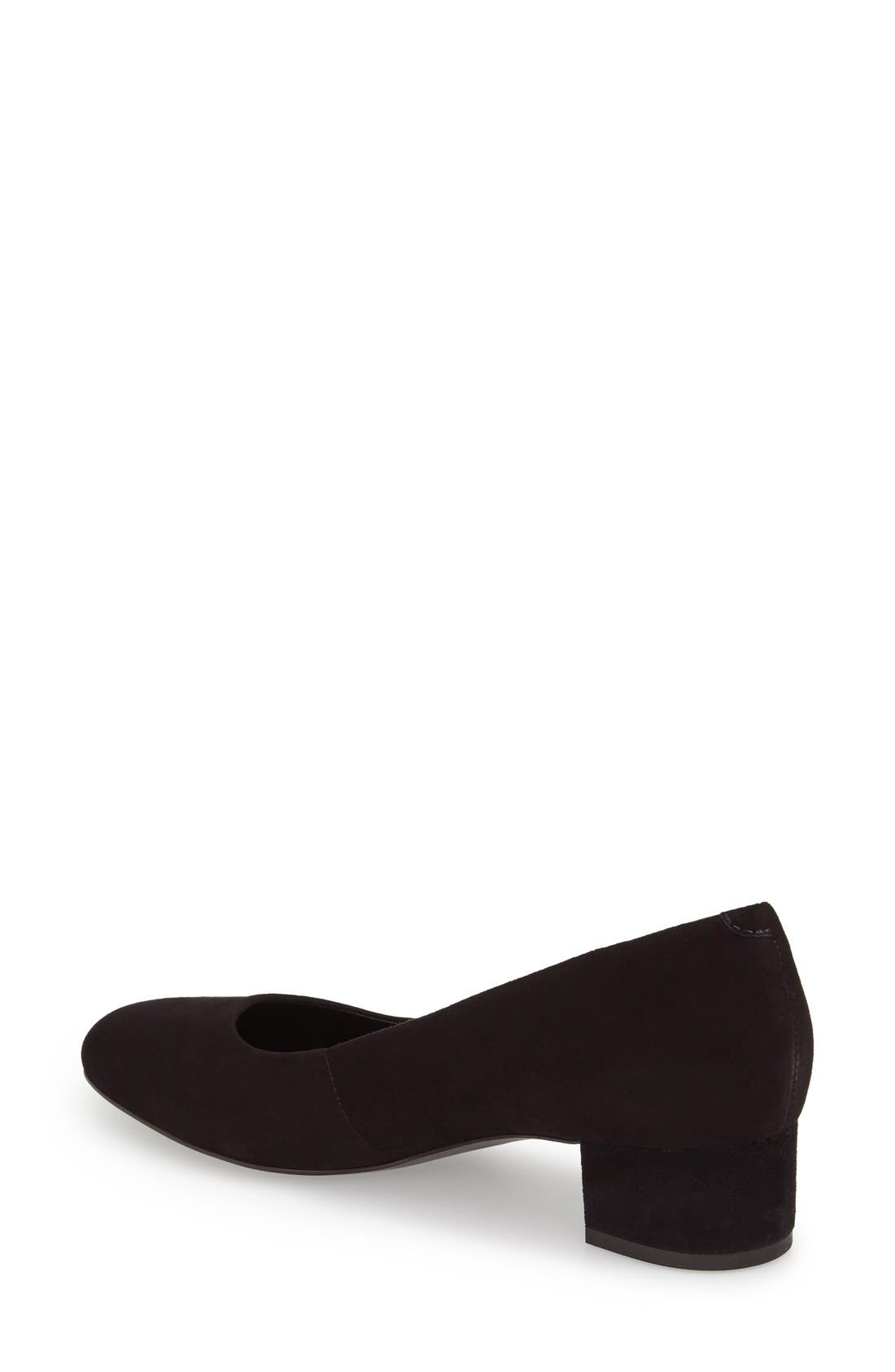 Bernardo Reggie Block Heel Pump,                             Alternate thumbnail 2, color,                             001