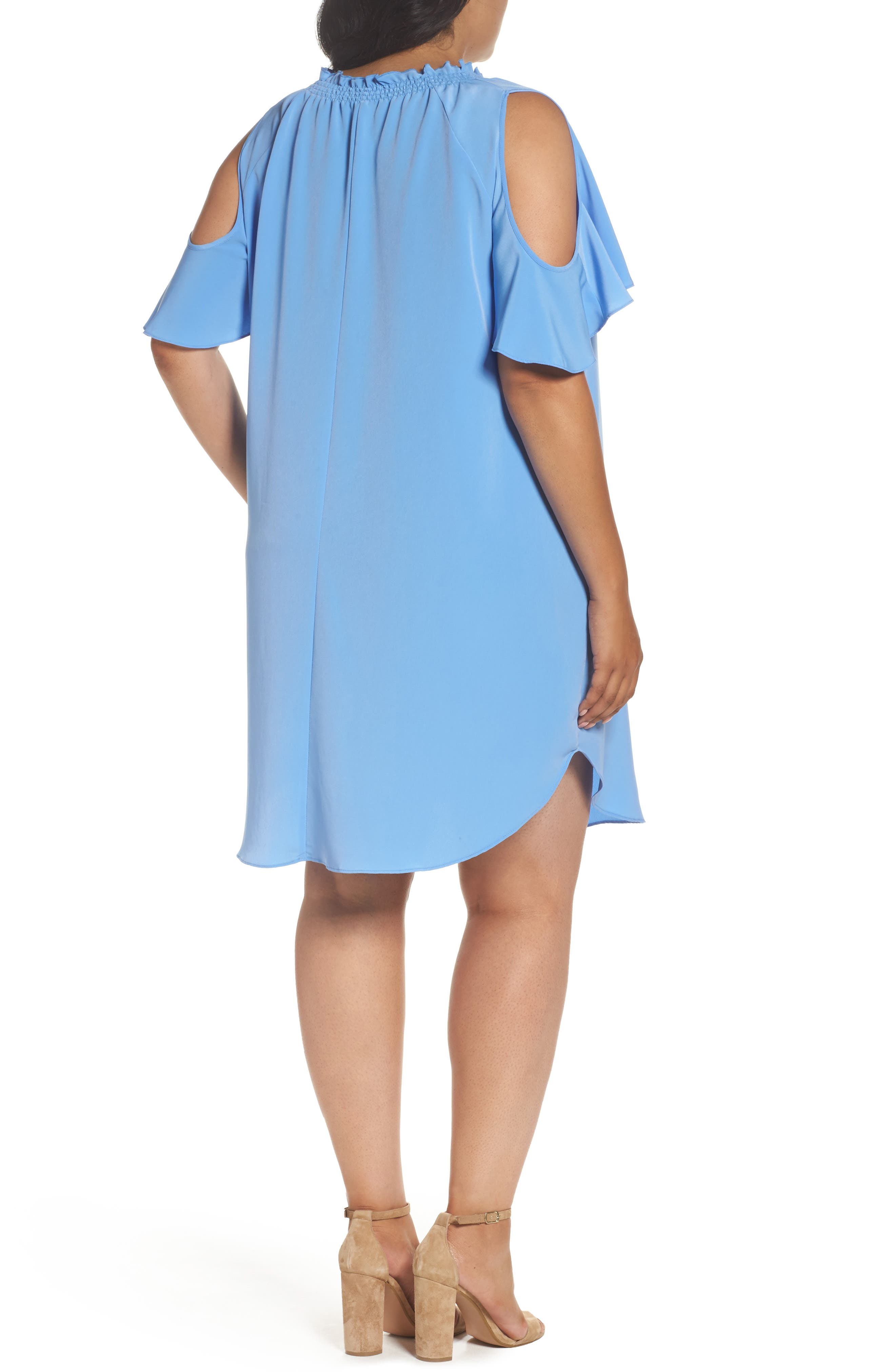 Elizabeth Cold Shoulder Dress,                             Alternate thumbnail 2, color,                             461