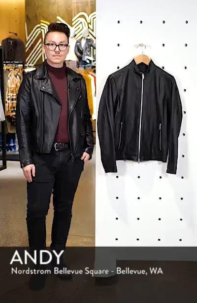 Morvek L.Burgos Trim Fit Leather Jacket, sales video thumbnail