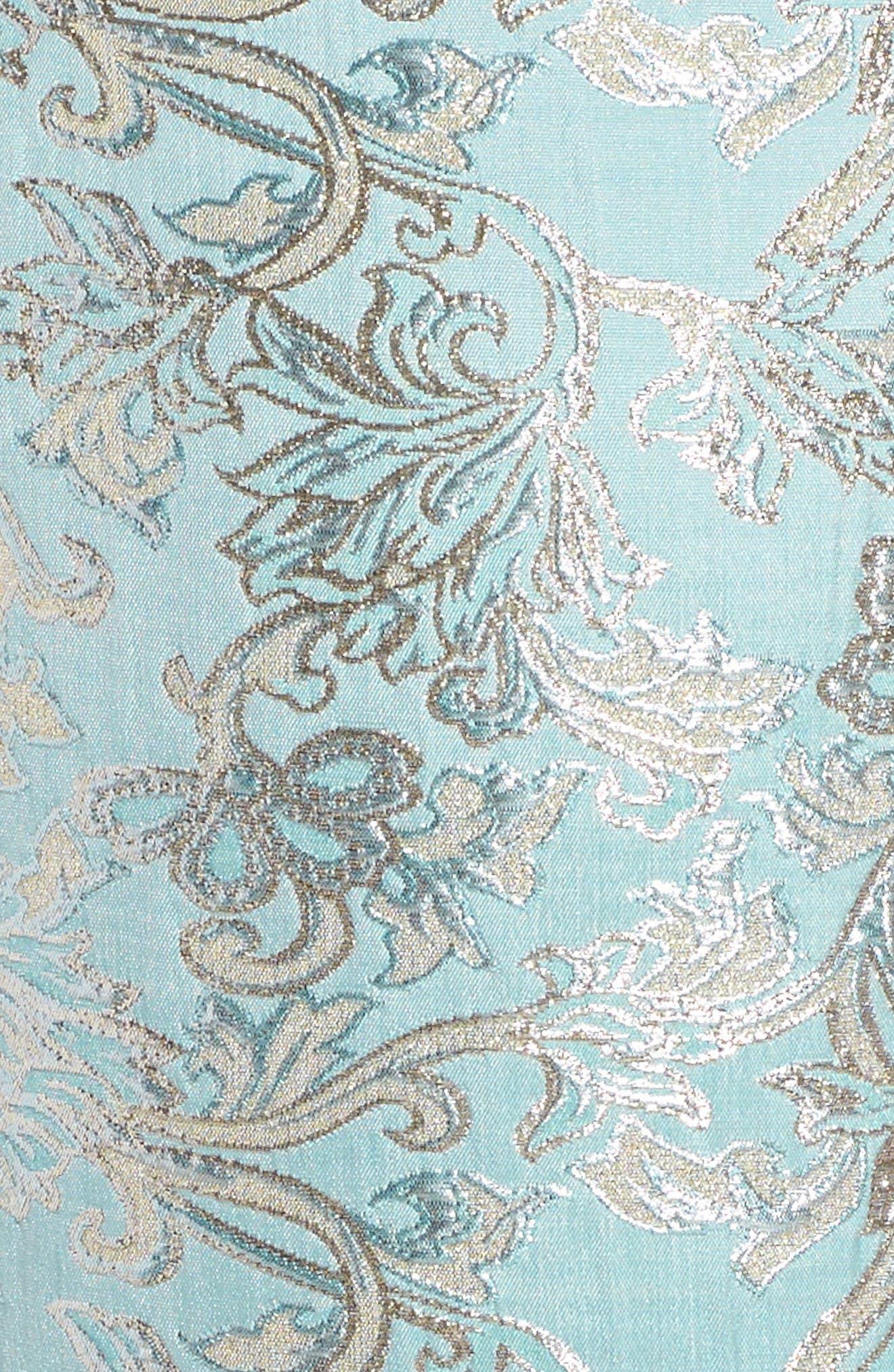 Floral Brocade Dress,                             Alternate thumbnail 4, color,                             440