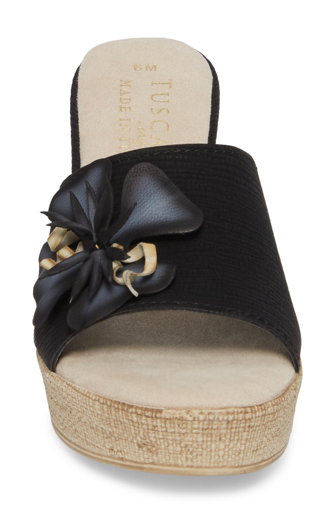 by Easy Street<sup>®</sup> Castello Wedge Slide Sandal,                             Alternate thumbnail 4, color,                             001
