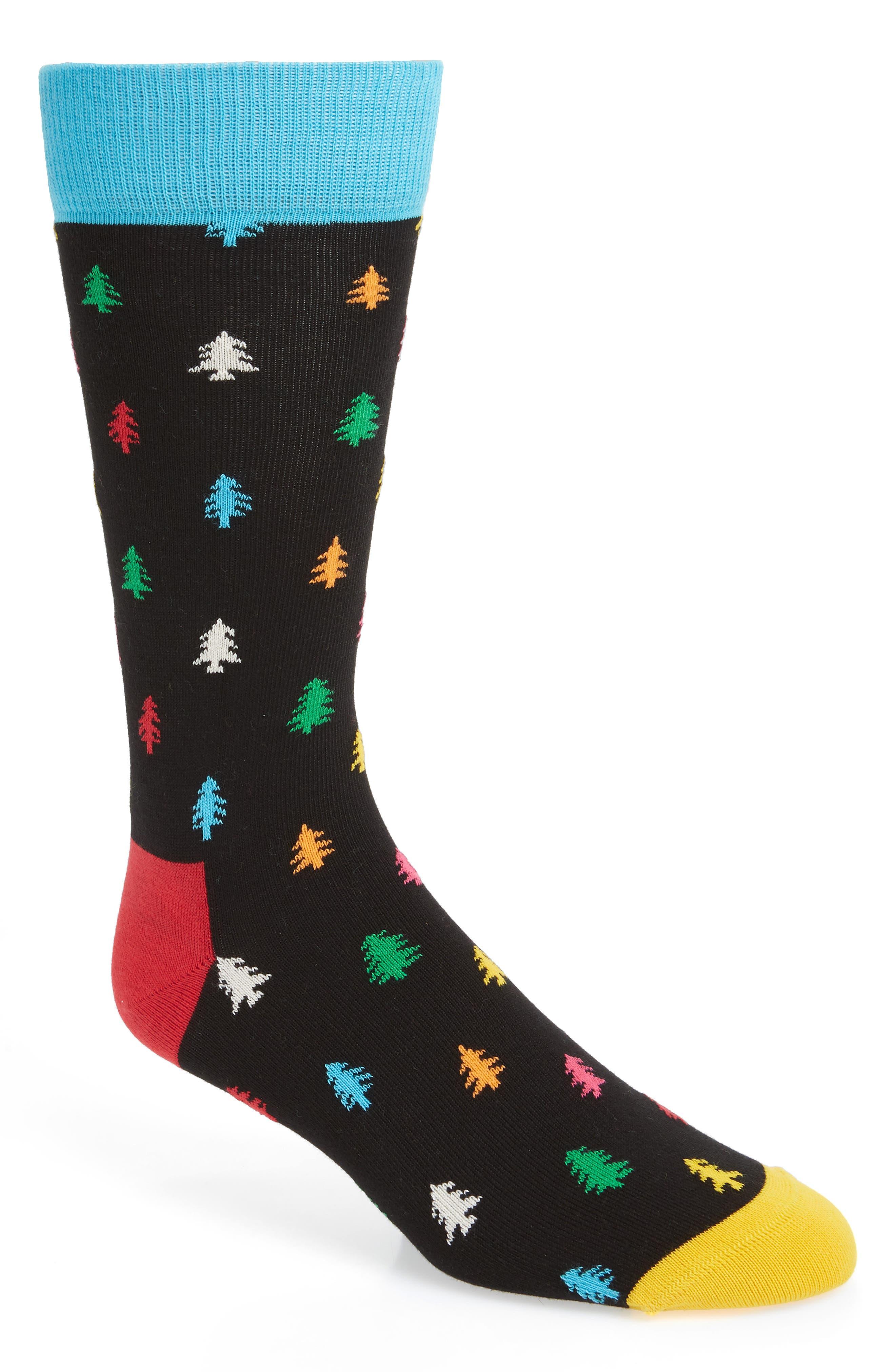Holiday Tree Socks,                             Main thumbnail 1, color,                             007