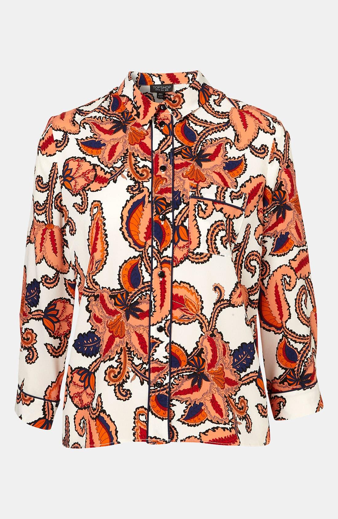 Paisley Print Shirt,                         Main,                         color, 601