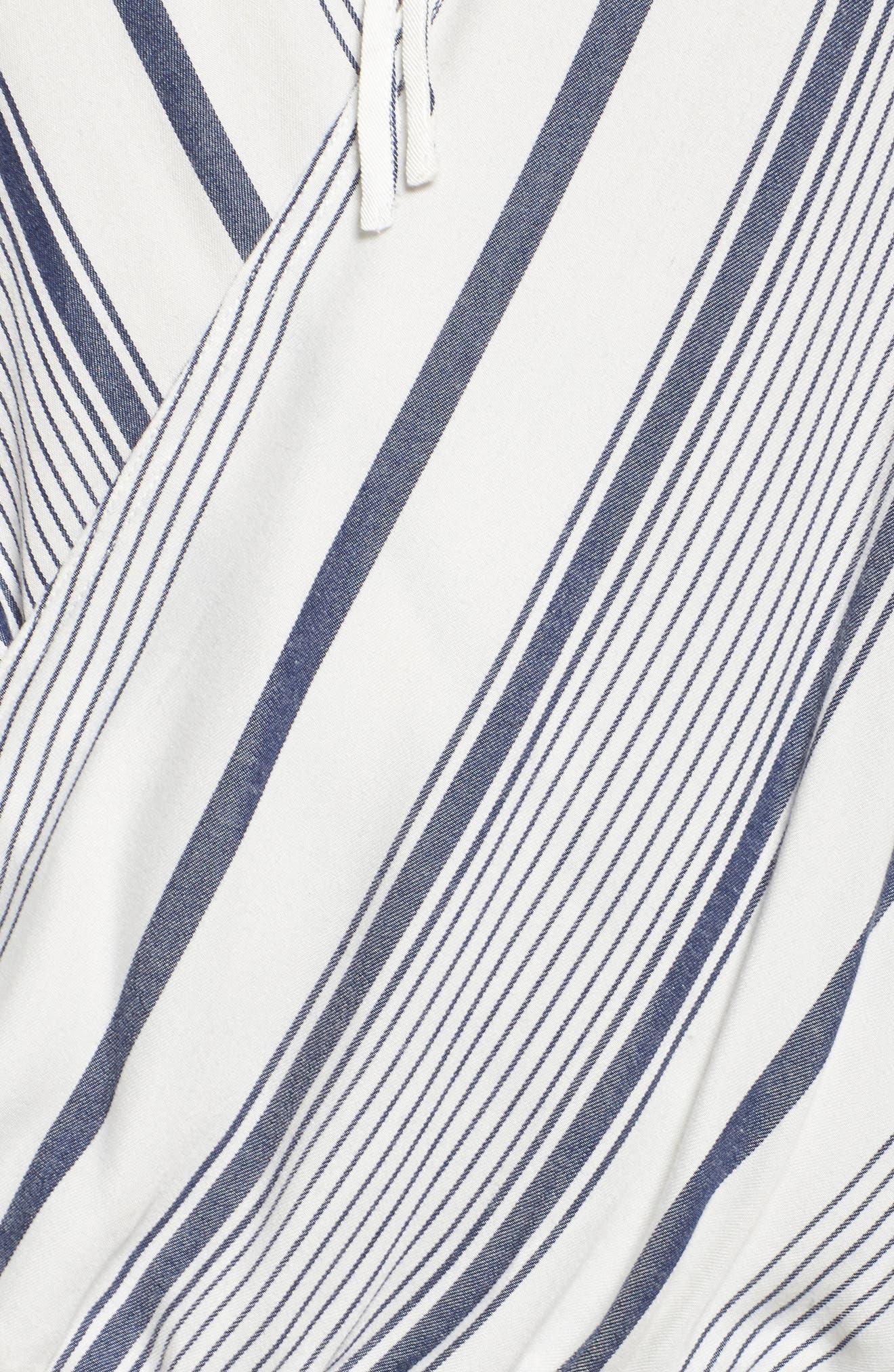 Stripe Surplice Top,                             Alternate thumbnail 5, color,                             100