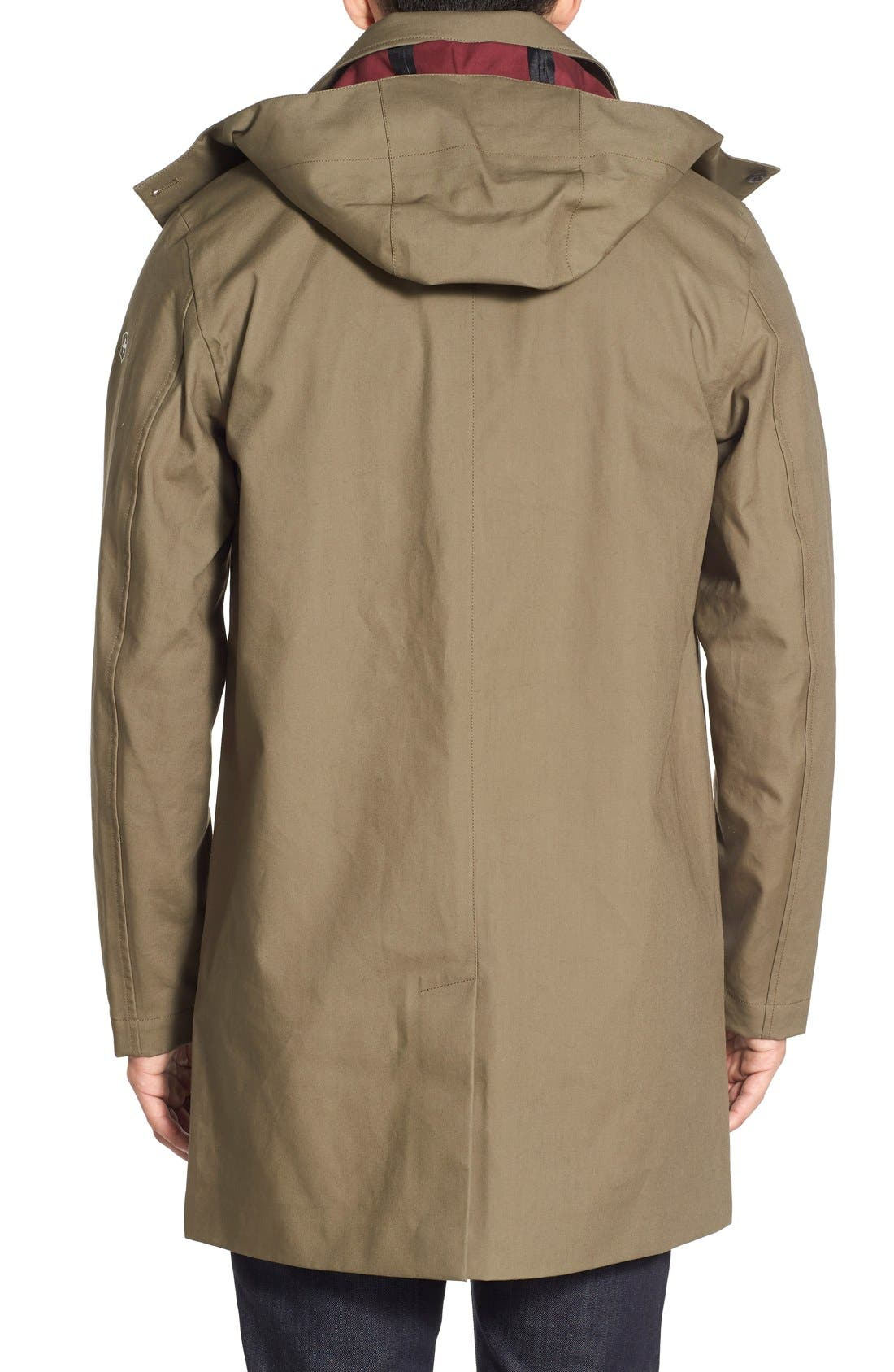 VICTORINOX SWISS ARMY<SUP>®</SUP>,                             'Lenzburg' Longline Waterproof Jacket,                             Alternate thumbnail 4, color,                             961