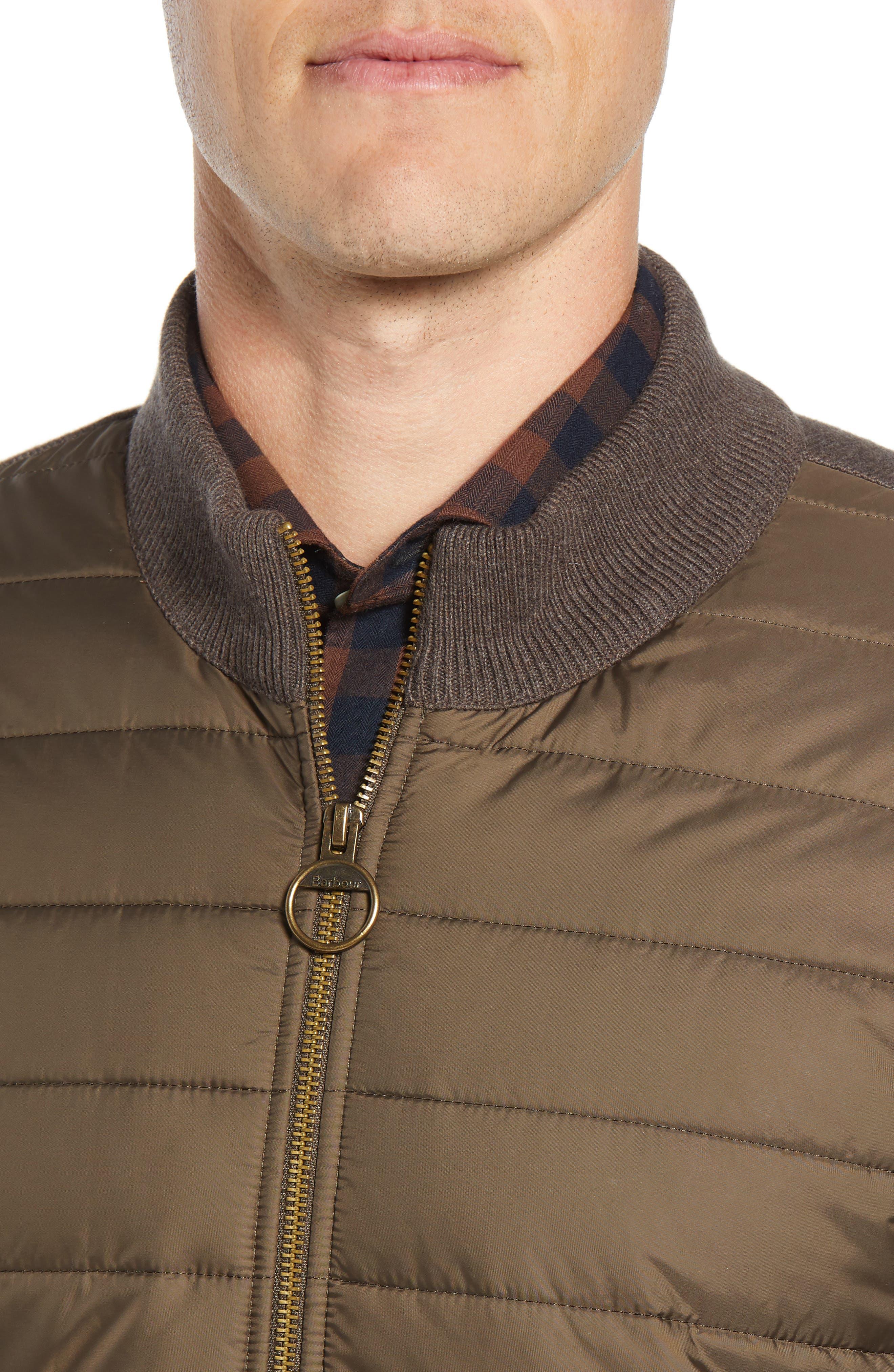BARBOUR,                             Carn Baffle Front Knit Jacket,                             Alternate thumbnail 4, color,                             250