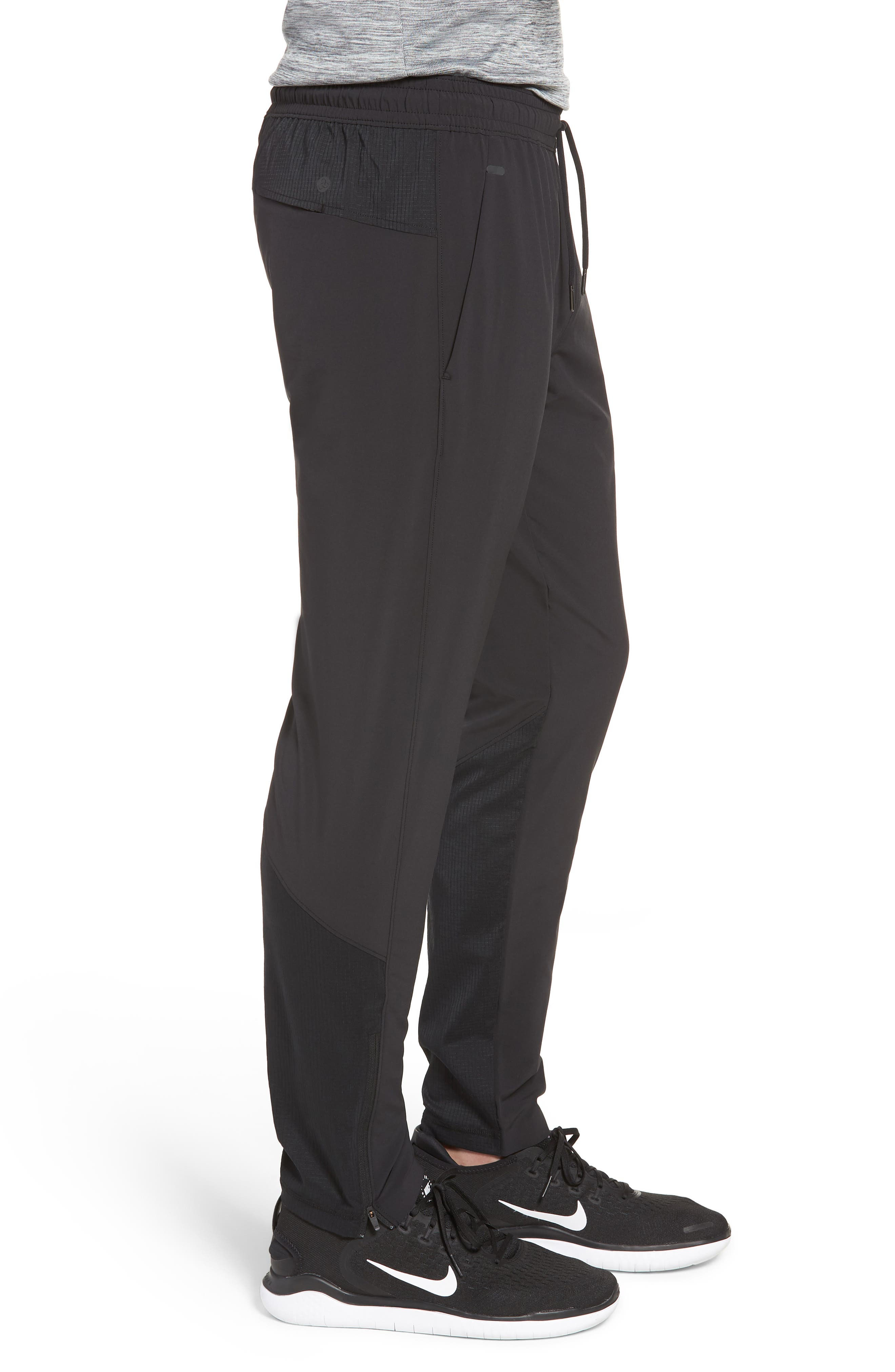 Graphite Tapered Athletic Pants,                             Alternate thumbnail 3, color,                             BLACK