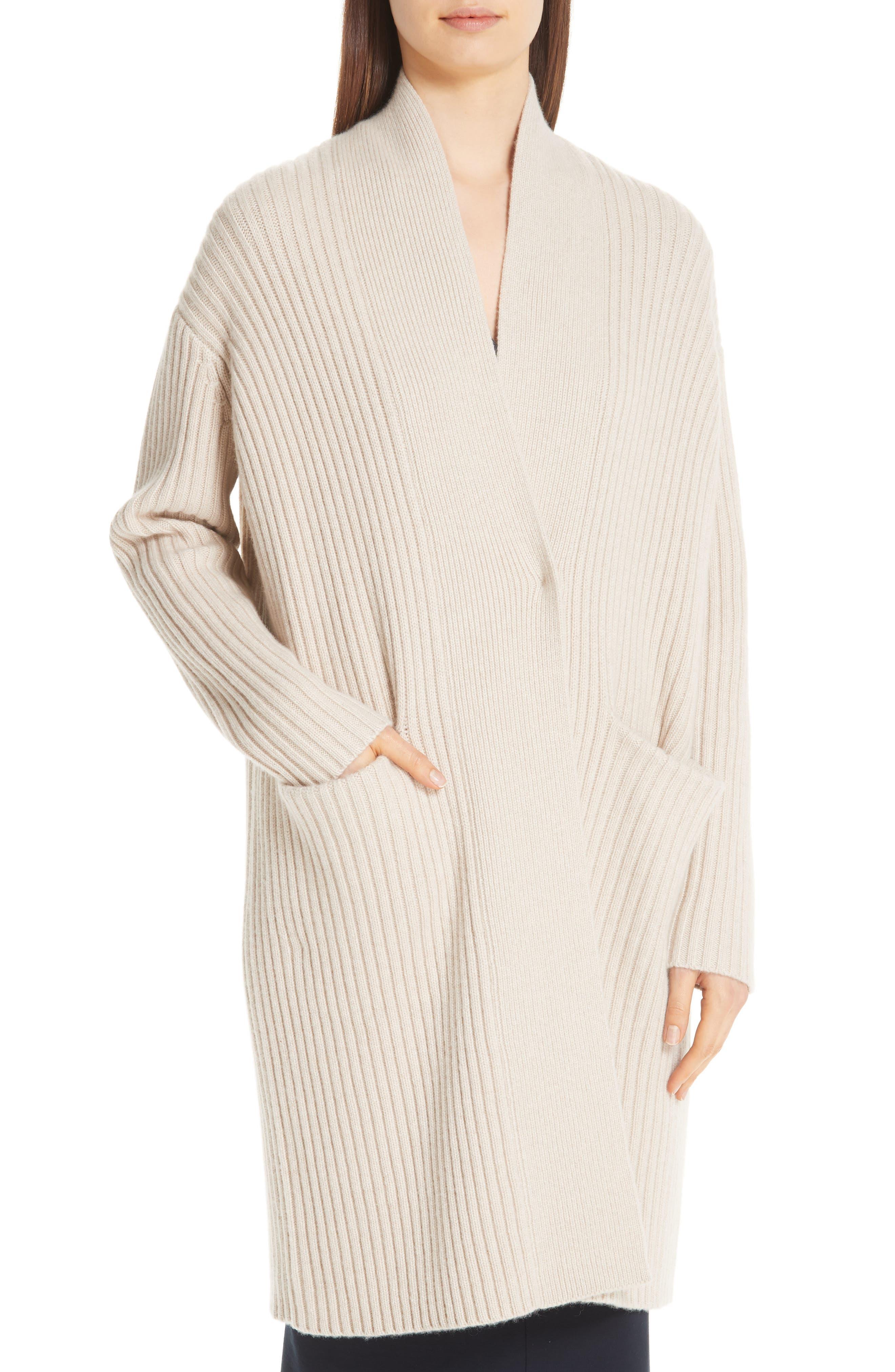 Lia Cashmere & Merino Wool Sweater,                             Alternate thumbnail 4, color,                             SAND