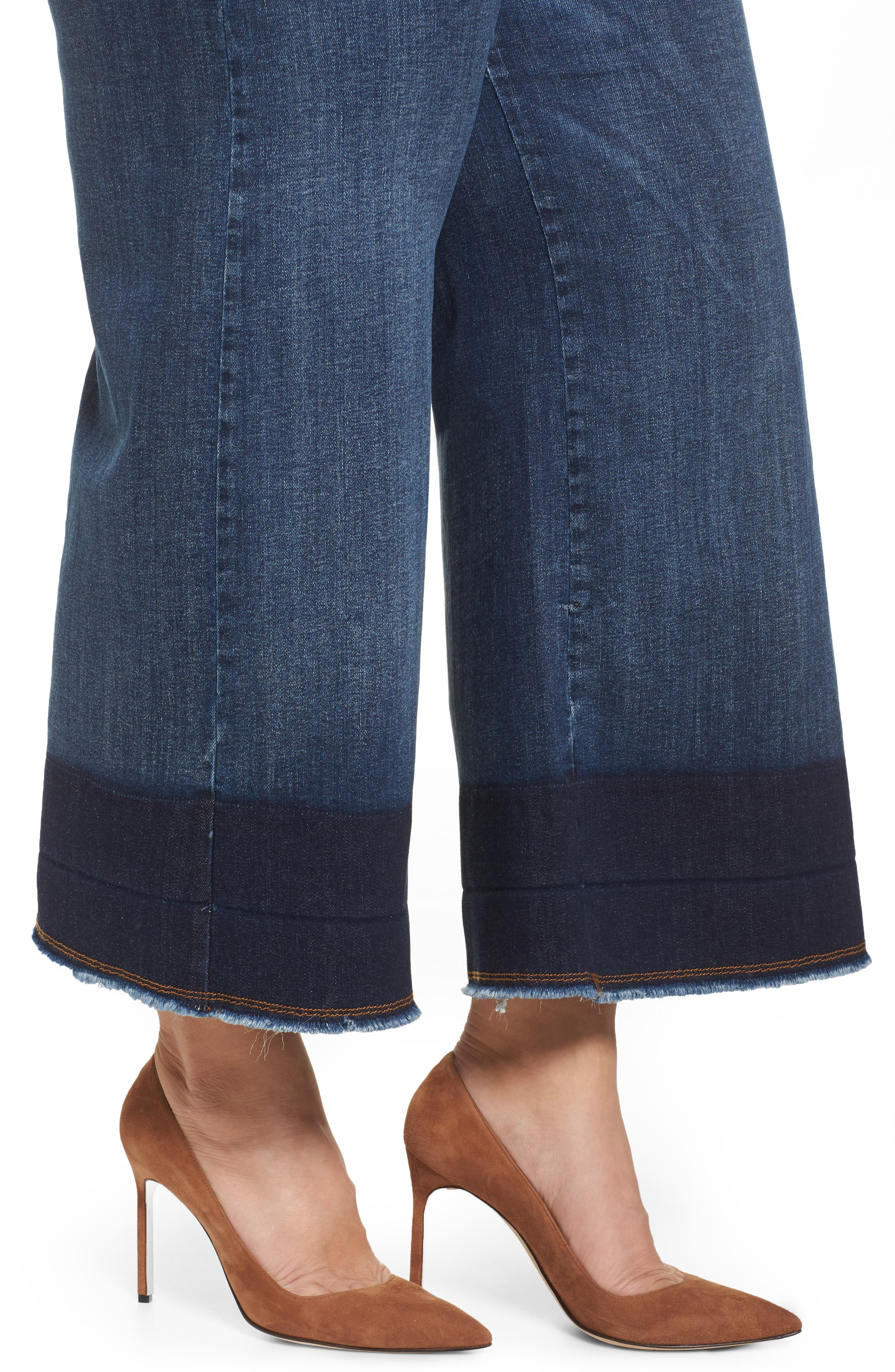 Idioma Super Stretch Wide Leg Jeans,                             Alternate thumbnail 4, color,                             454