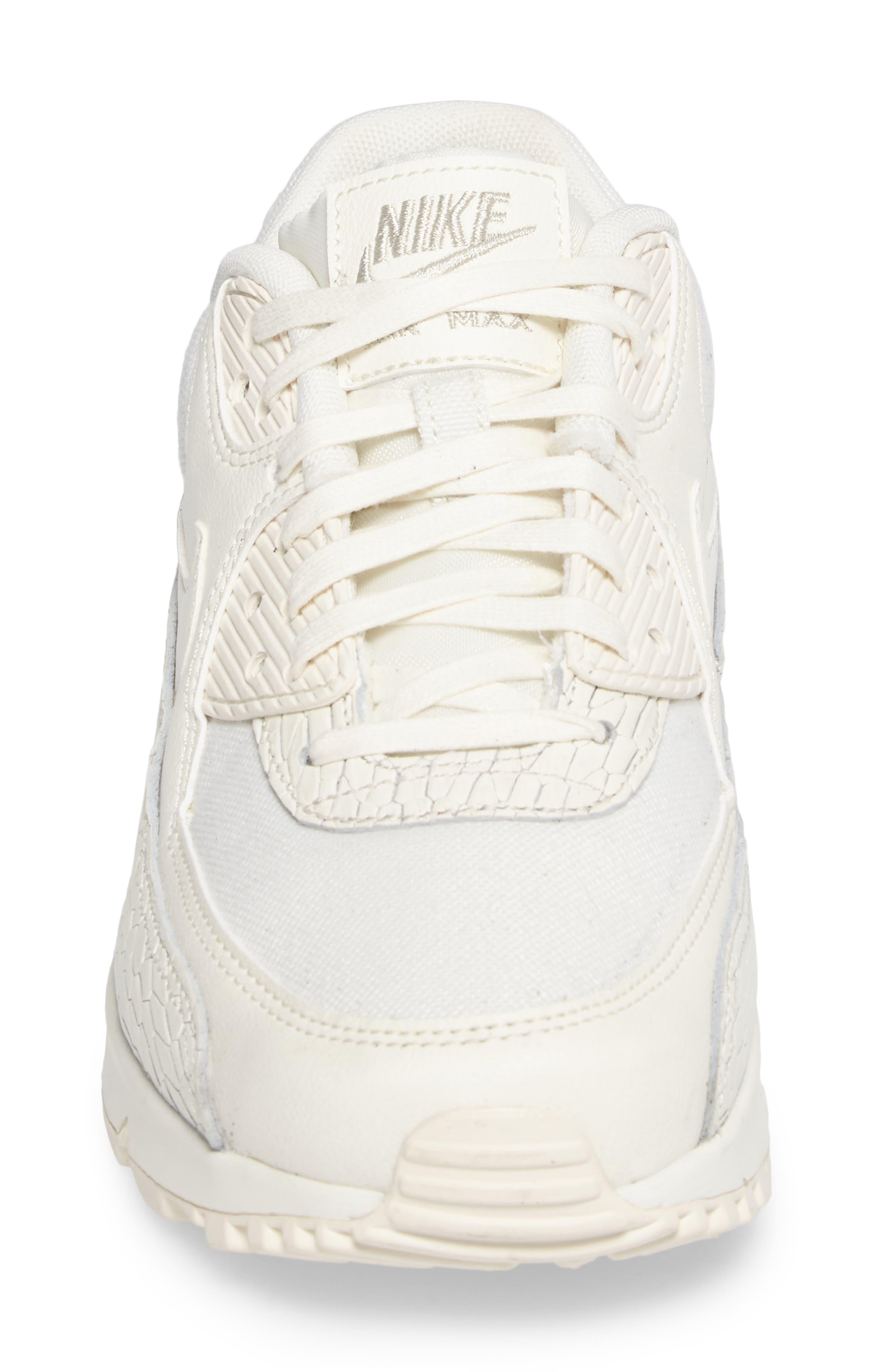 Air Max 90 Premium Leather Sneaker,                             Alternate thumbnail 4, color,                             250