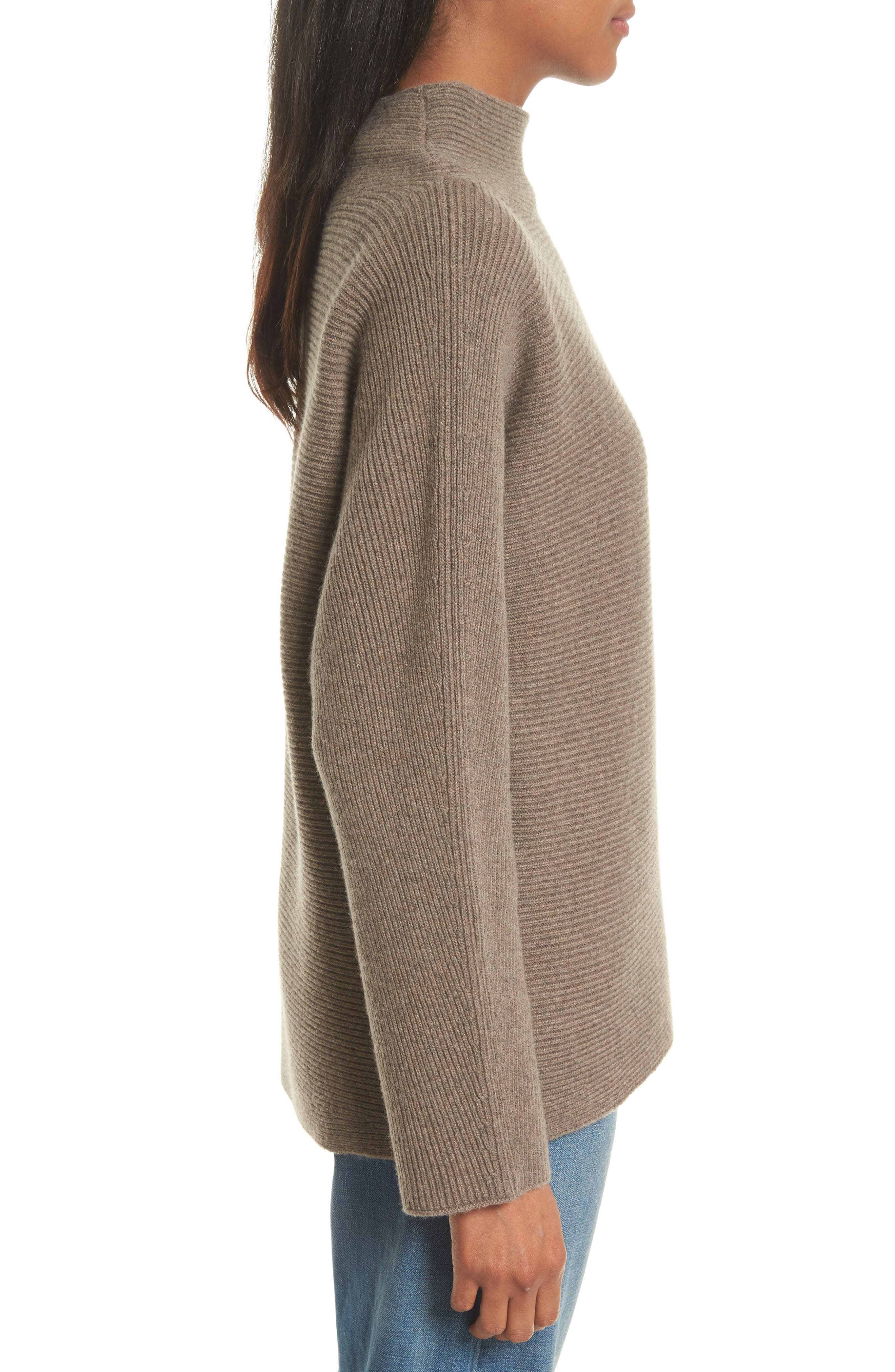 Ribbed Wool & Cashmere Sweater,                             Alternate thumbnail 3, color,                             285