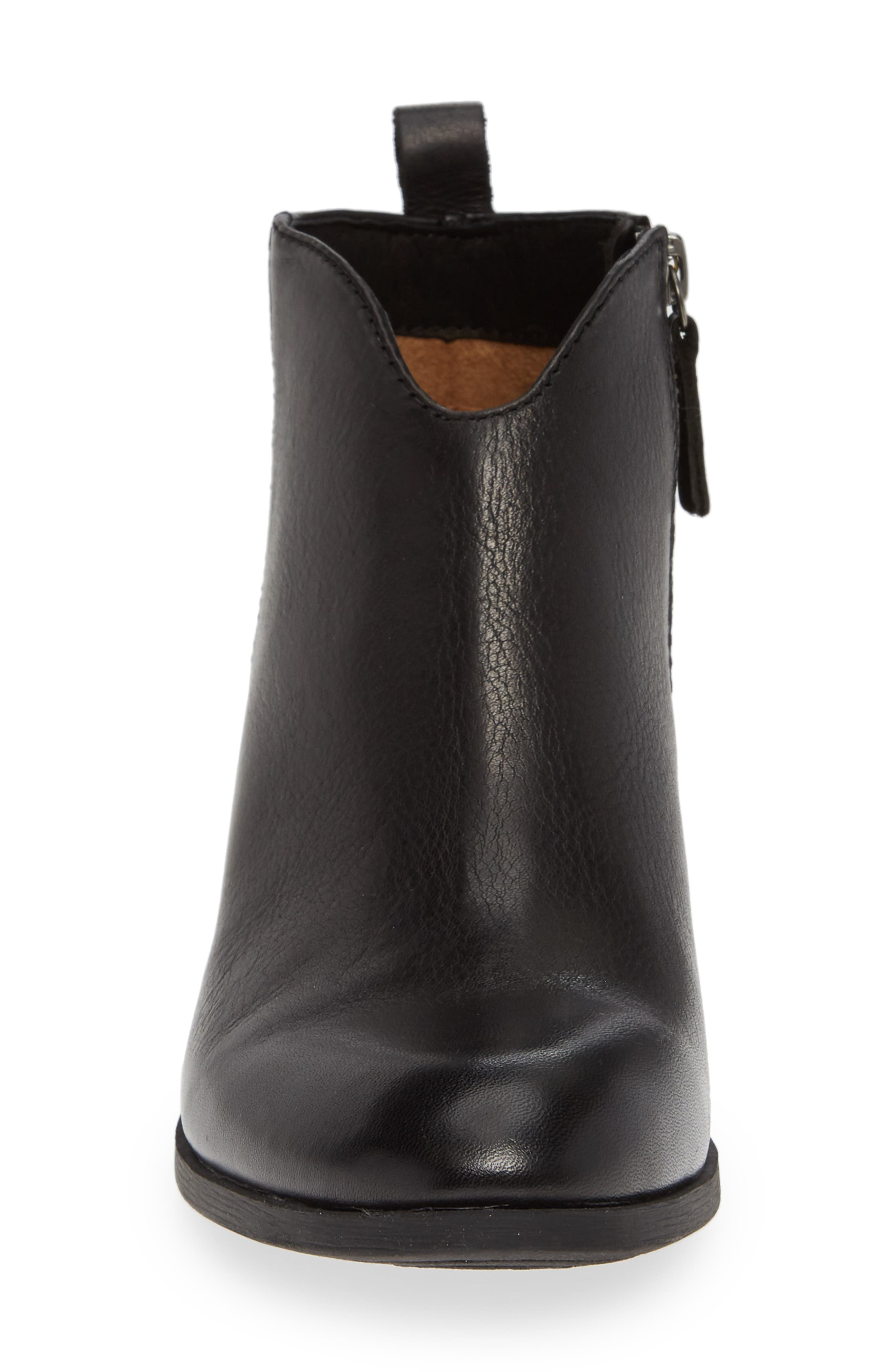 Coleta Bootie,                             Alternate thumbnail 4, color,                             BLACK LEATHER