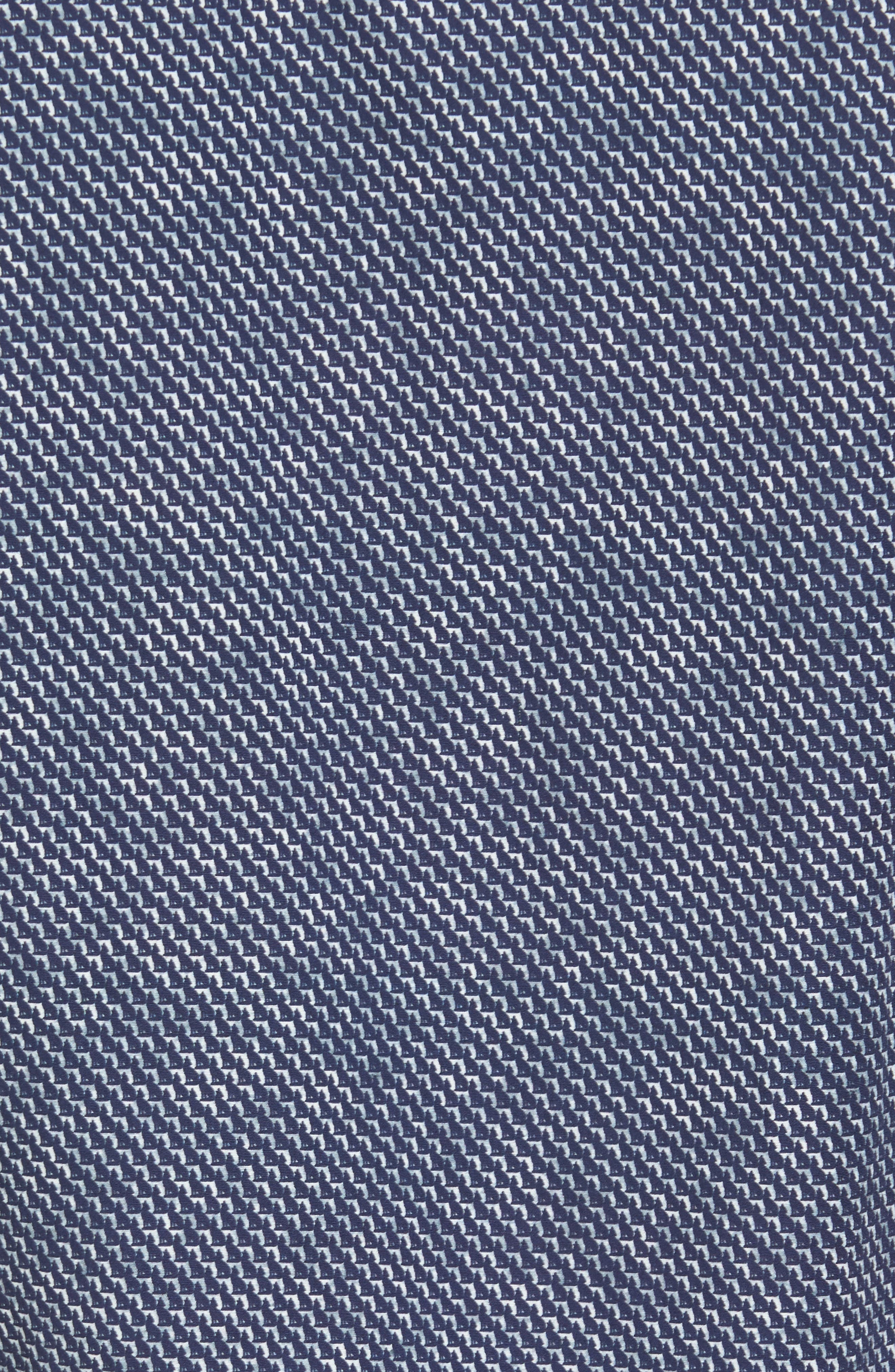 Slim Fit Wolf Texture FX Sport Shirt,                             Alternate thumbnail 5, color,