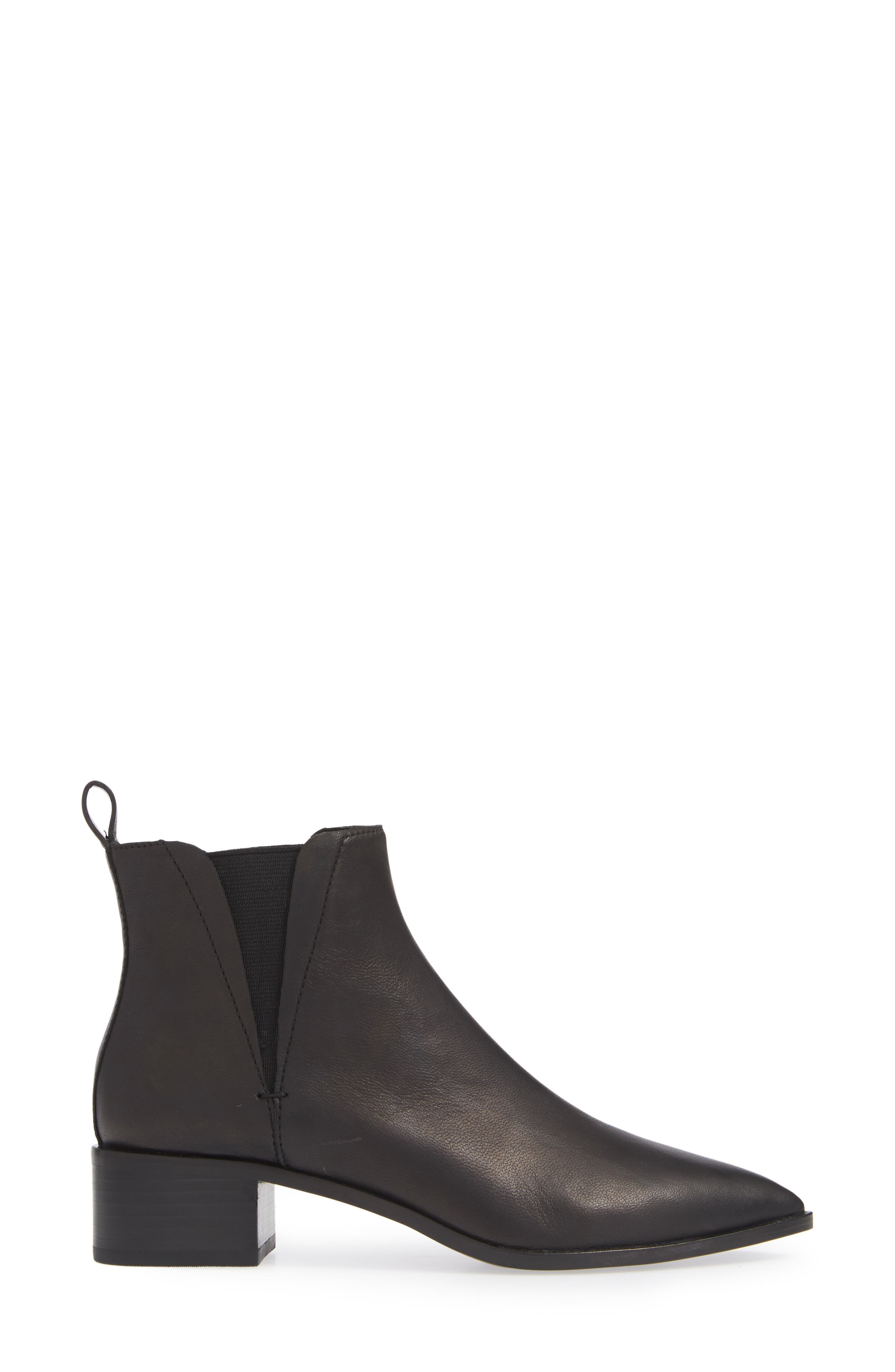 Taylor Bootie,                             Alternate thumbnail 3, color,                             BLACK LEATHER